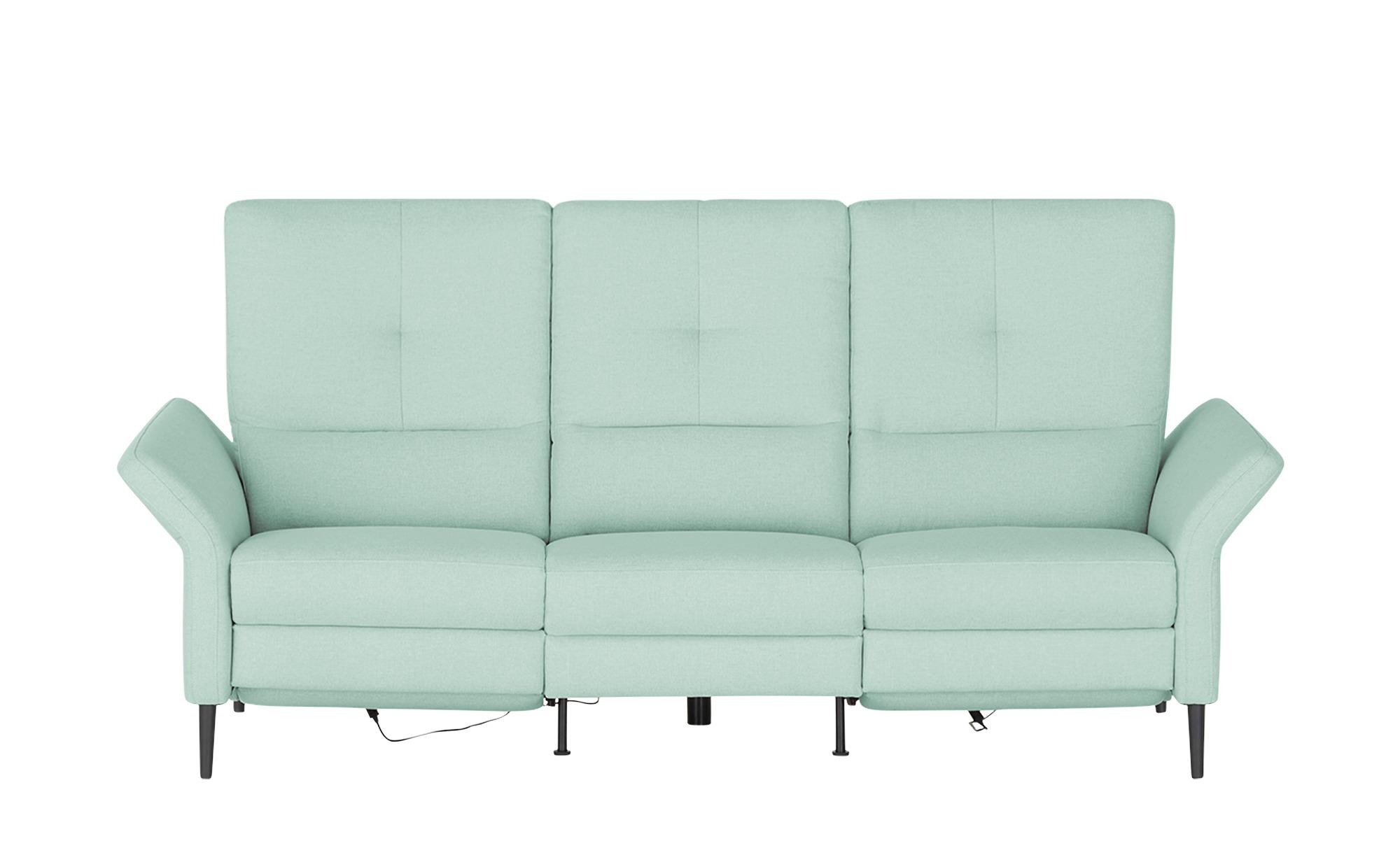 Wohnwert Einzelsofa  Sandra ¦ blau ¦ Maße (cm): B: 224 H: 108 T: 89 Polstermöbel > Sofas > 2-Sitzer - Höffner