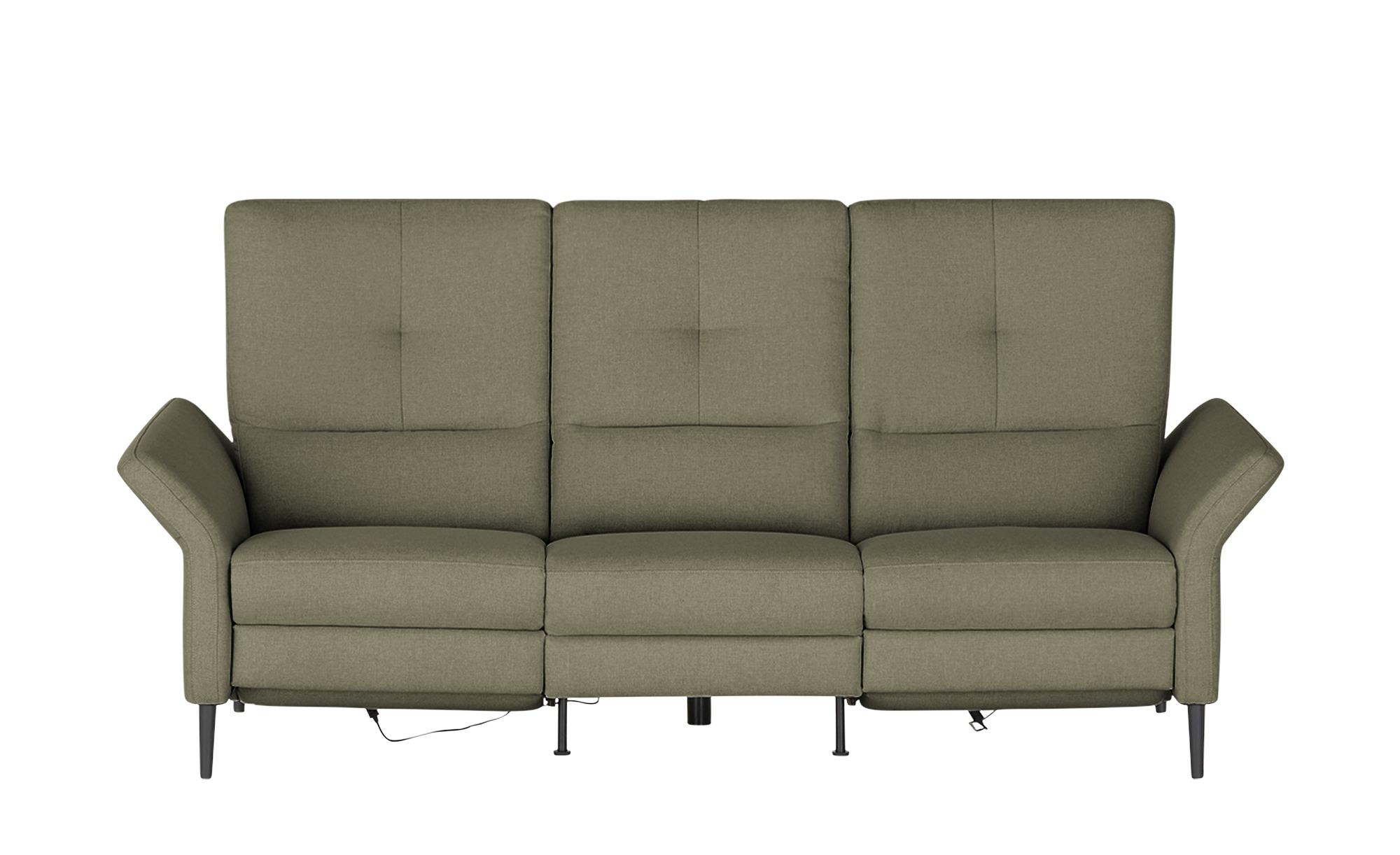 Wohnwert Einzelsofa  Sandra ¦ grün ¦ Maße (cm): B: 224 H: 108 T: 89 Polstermöbel > Sofas > 2-Sitzer - Höffner