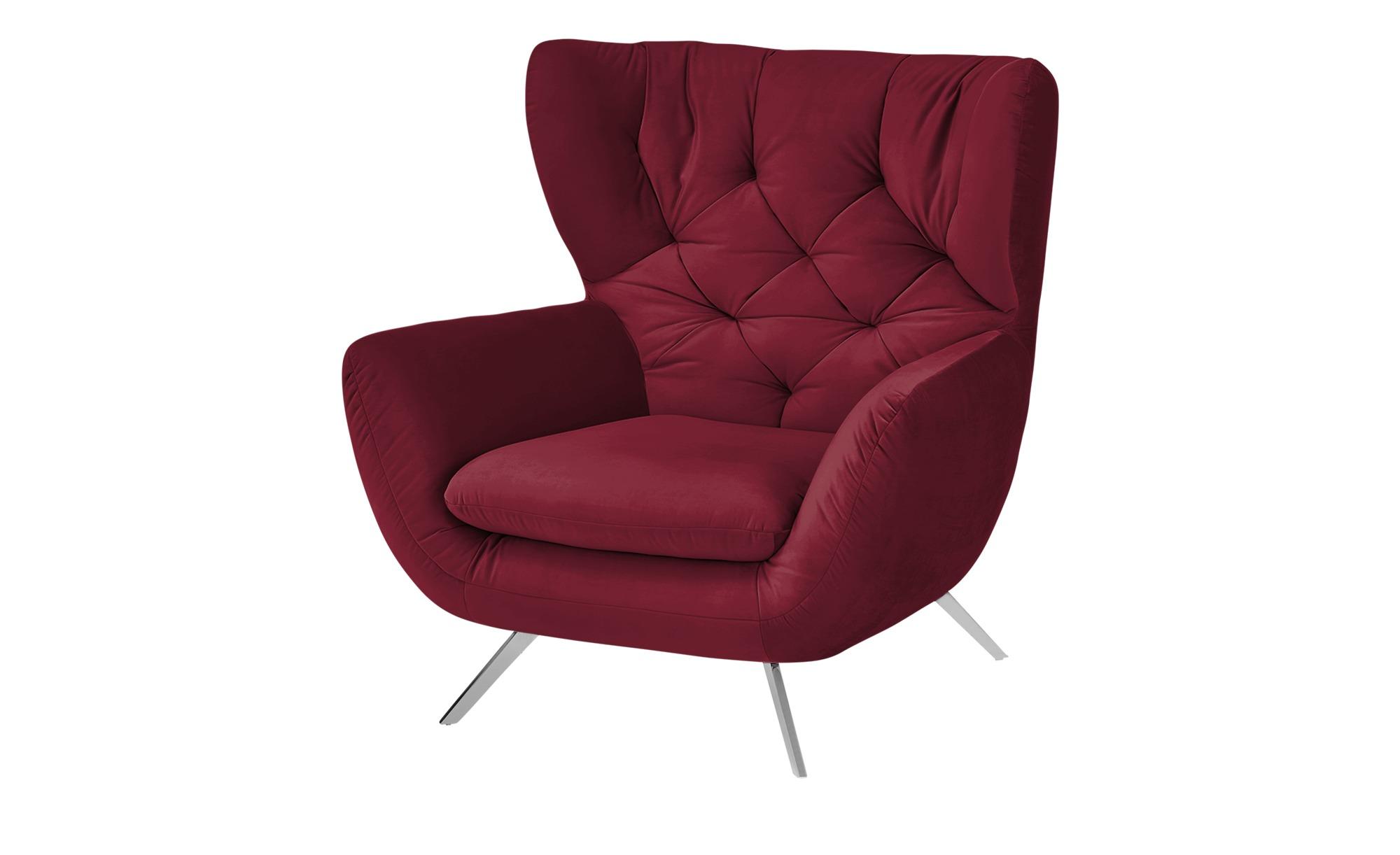 pop Hochlehnsessel  Caldara ¦ rot ¦ Maße (cm): B: 100 H: 106 T: 95 Polstermöbel > Sessel > Ohrensessel - Höffner