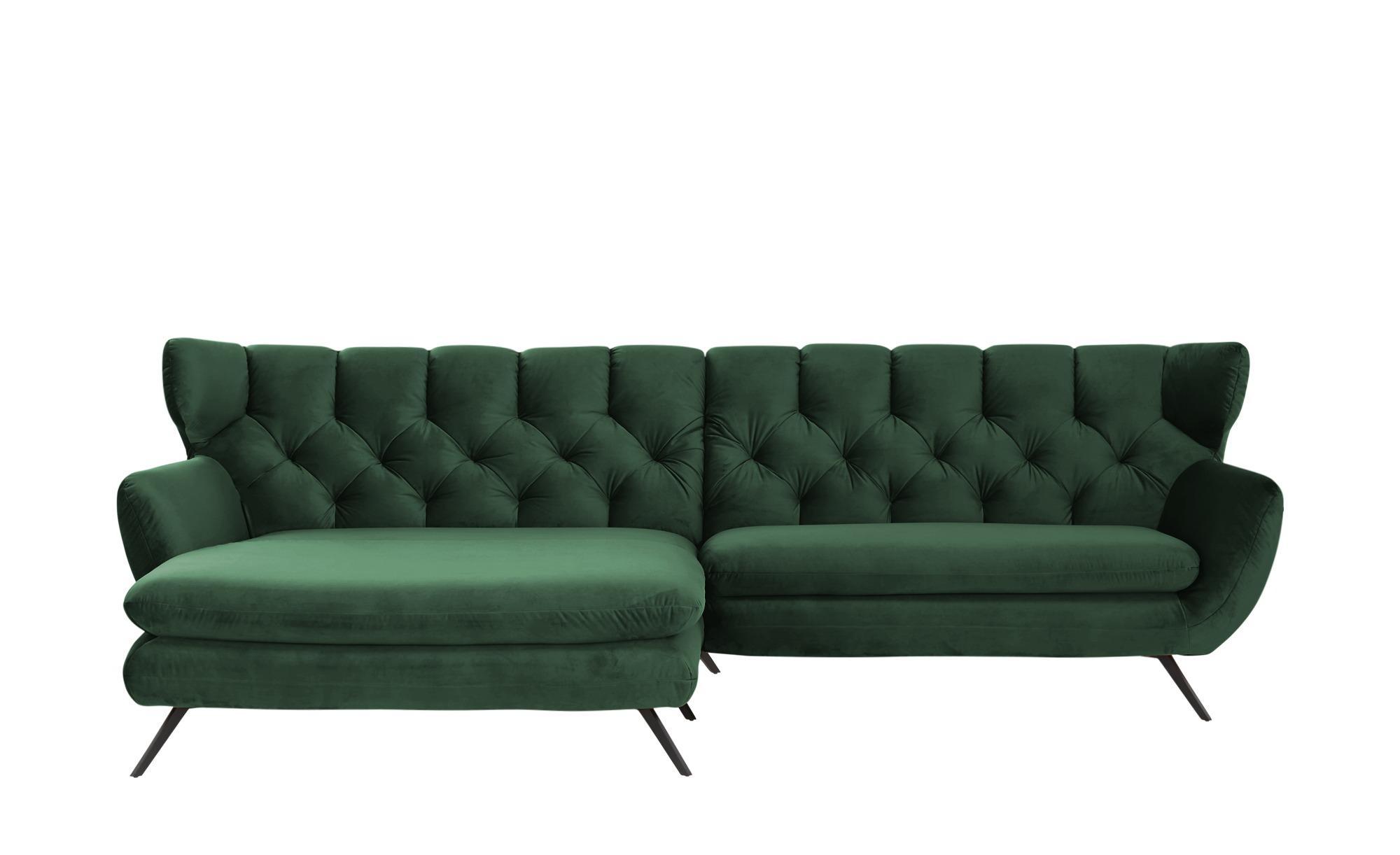 pop Ecksofa  Caldara ¦ grün ¦ Maße (cm): H: 94 Polstermöbel > Sofas > Ecksofas - Höffner