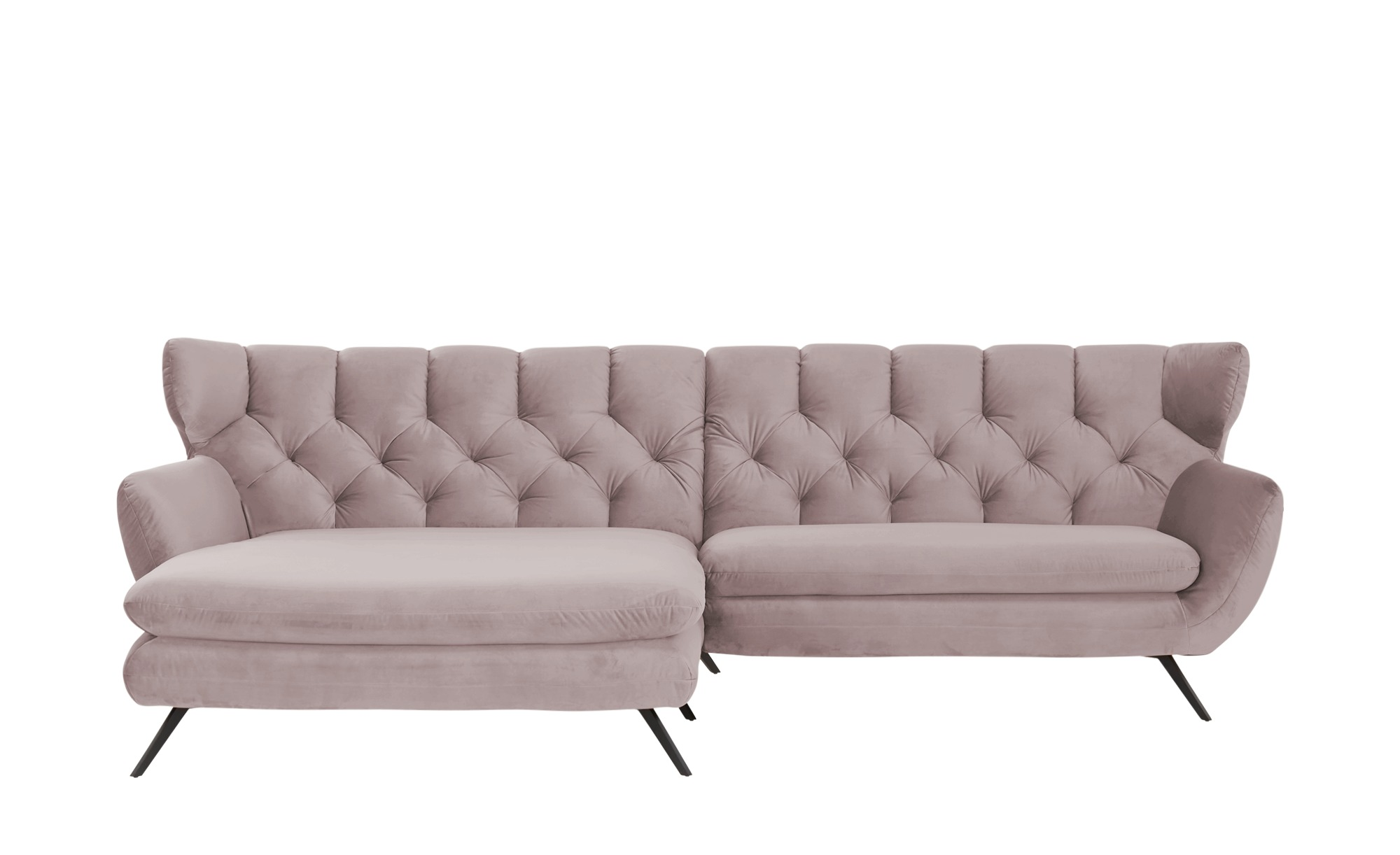 pop Ecksofa  Caldara ¦ rosa/pink ¦ Maße (cm): H: 94 Polstermöbel > Sofas > Ecksofas - Höffner