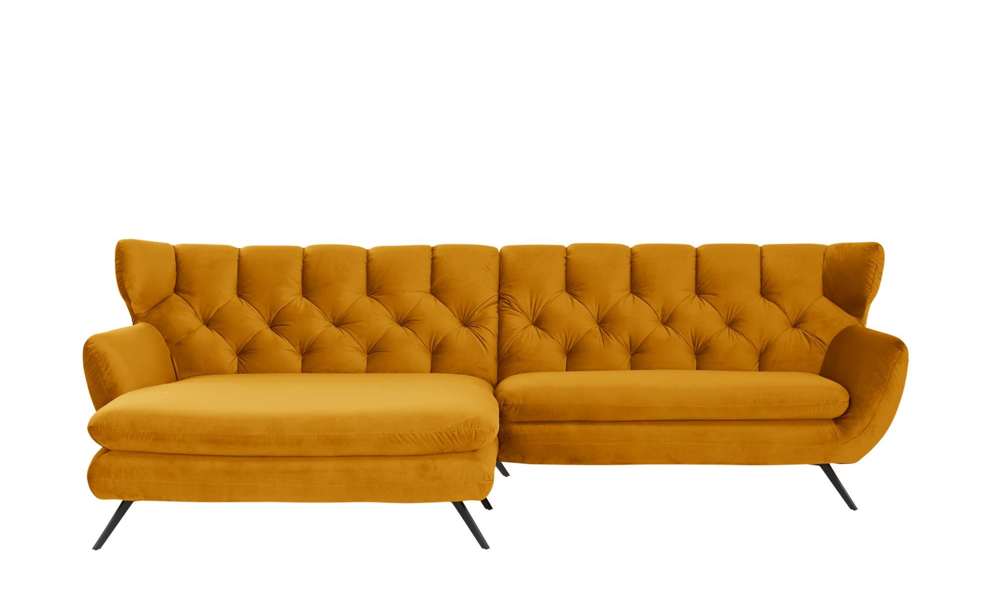 pop Ecksofa  Caldara ¦ gelb ¦ Maße (cm): H: 94 Polstermöbel > Sofas > Ecksofas - Höffner