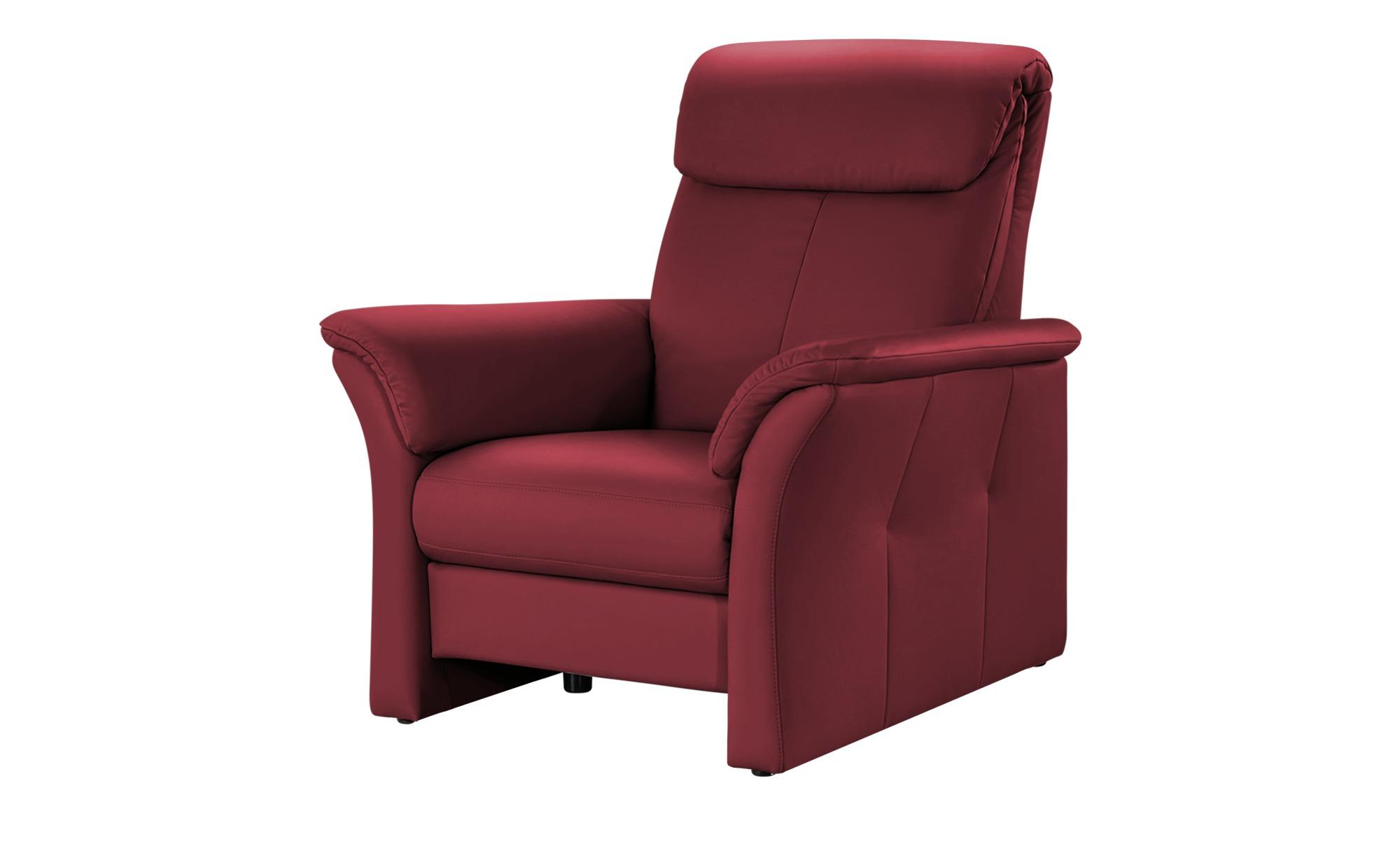 Wohnwert Ledersessel  Lena ¦ rot ¦ Maße (cm): B: 104,5 H: 107 T: 97 Polstermöbel > Sessel > Ledersessel - Höffner