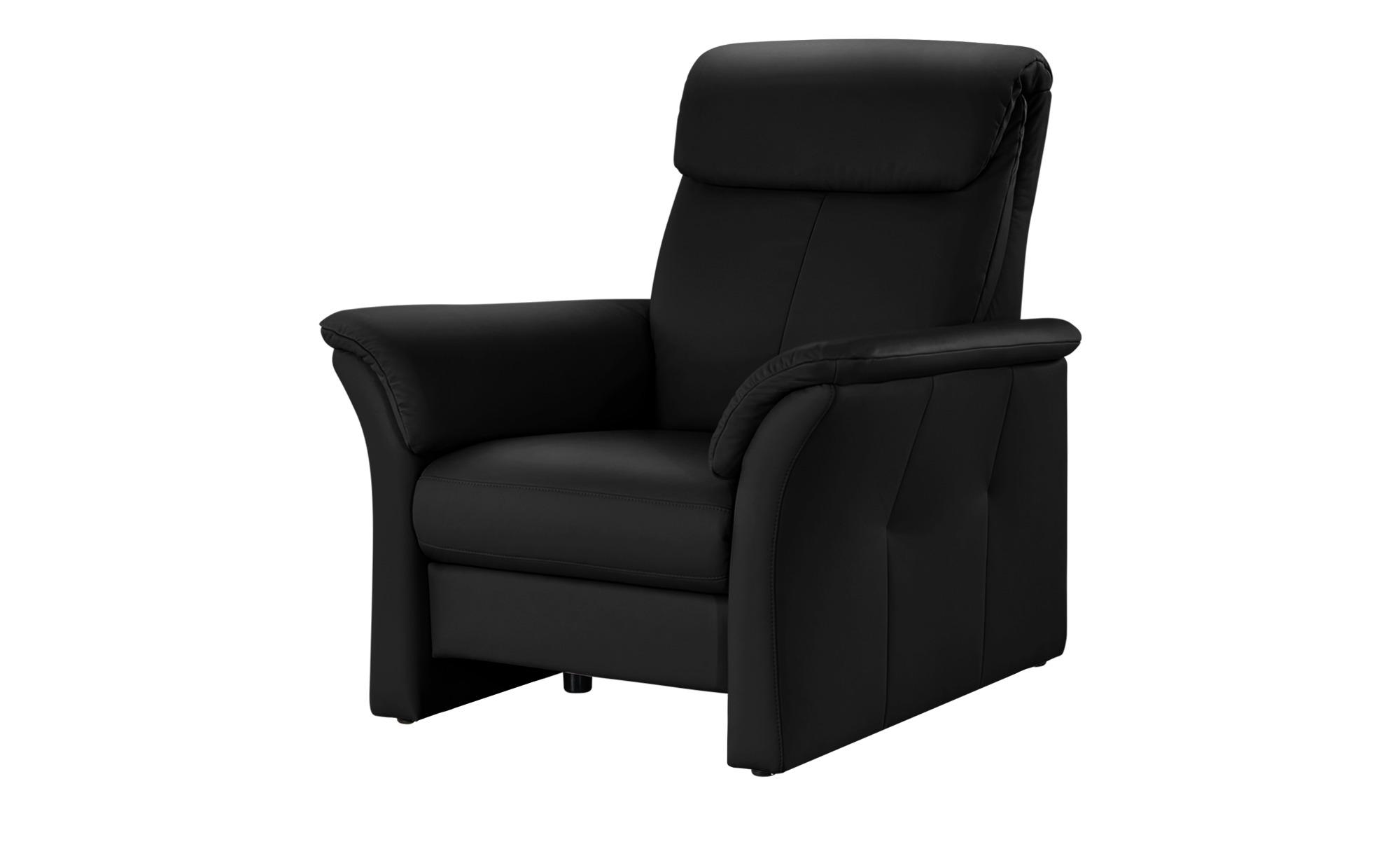 Wohnwert Ledersessel  Lena ¦ schwarz ¦ Maße (cm): B: 104,5 H: 107 T: 97 Polstermöbel > Sessel > Ledersessel - Höffner
