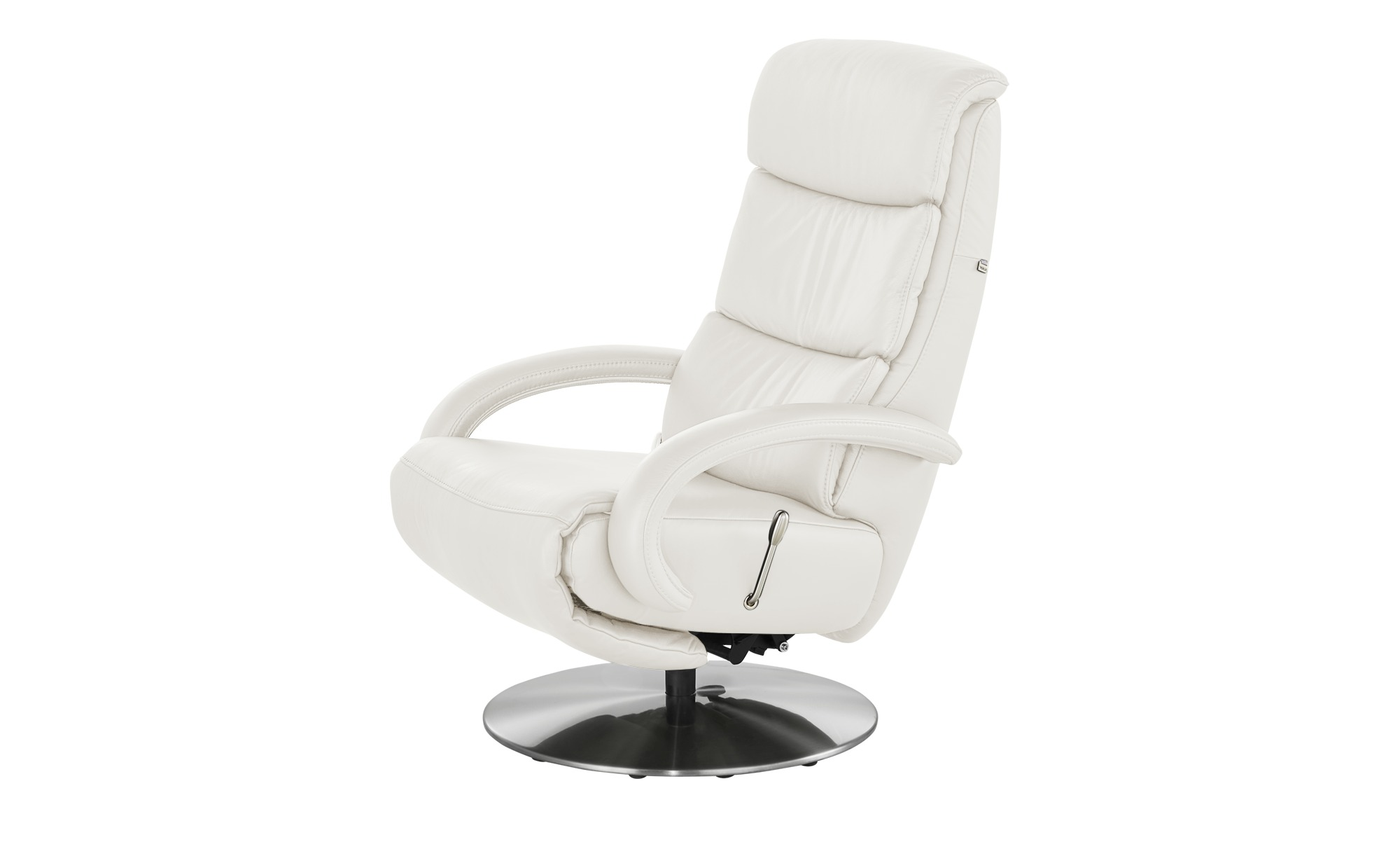Hukla Leder-Relaxsessel  Florian ¦ weiß ¦ Maße (cm): B: 73 H: 109 T: 91 Polstermöbel > Sessel > Fernsehsessel - Höffner