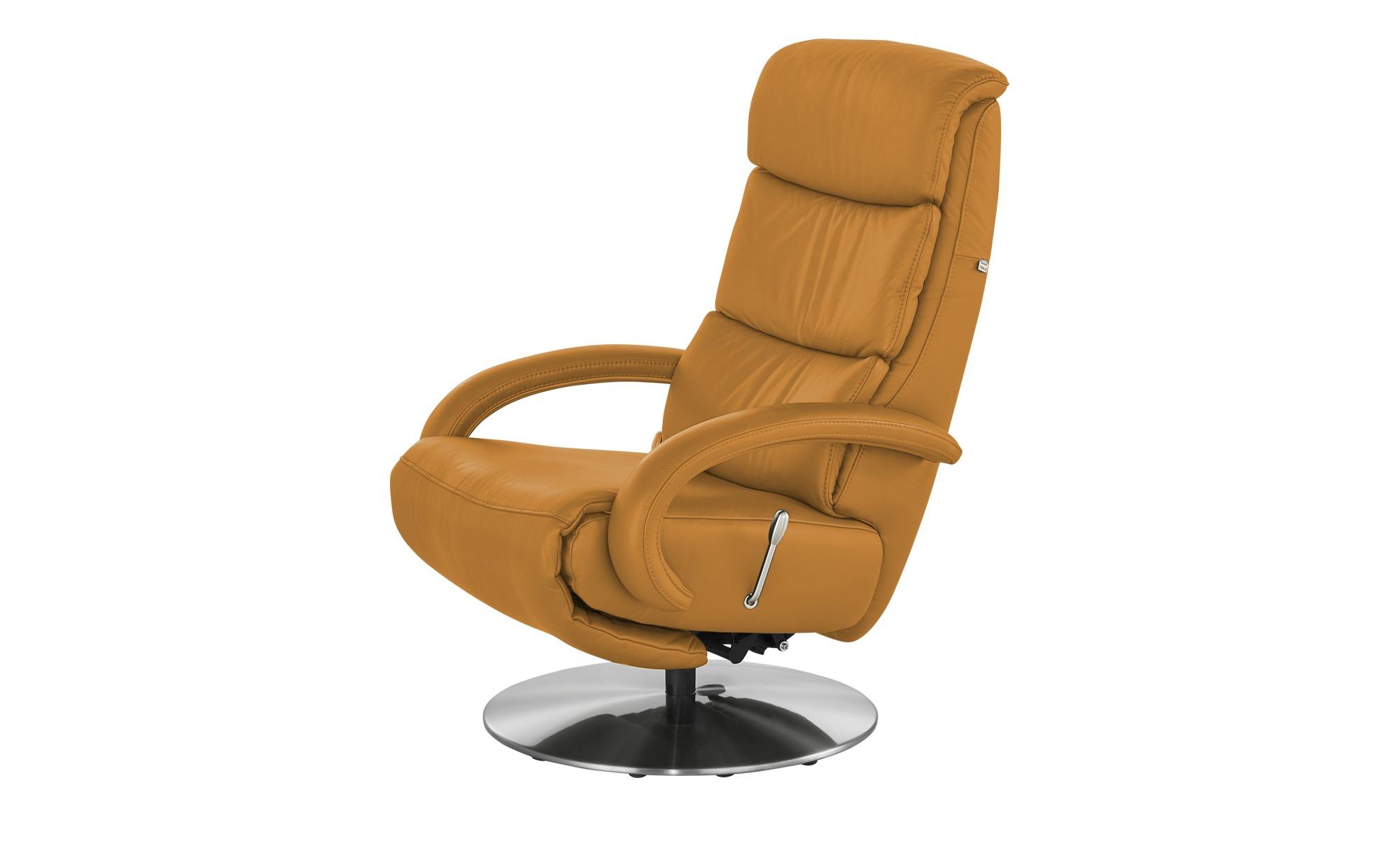 Hukla Leder-Relaxsessel  Florian ¦ orange ¦ Maße (cm): B: 73 H: 109 T: 91 Polstermöbel > Sessel > Fernsehsessel - Höffner