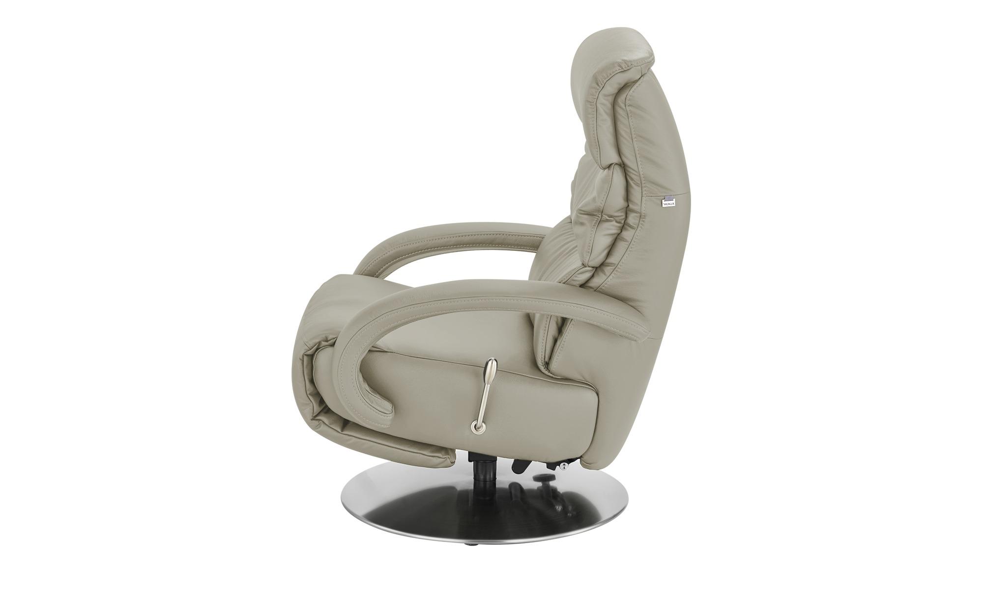 Hukla Leder-Relaxsessel  Florian ¦ grau ¦ Maße (cm): B: 73 H: 102 T: 91 Polstermöbel > Sessel > Fernsehsessel - Höffner