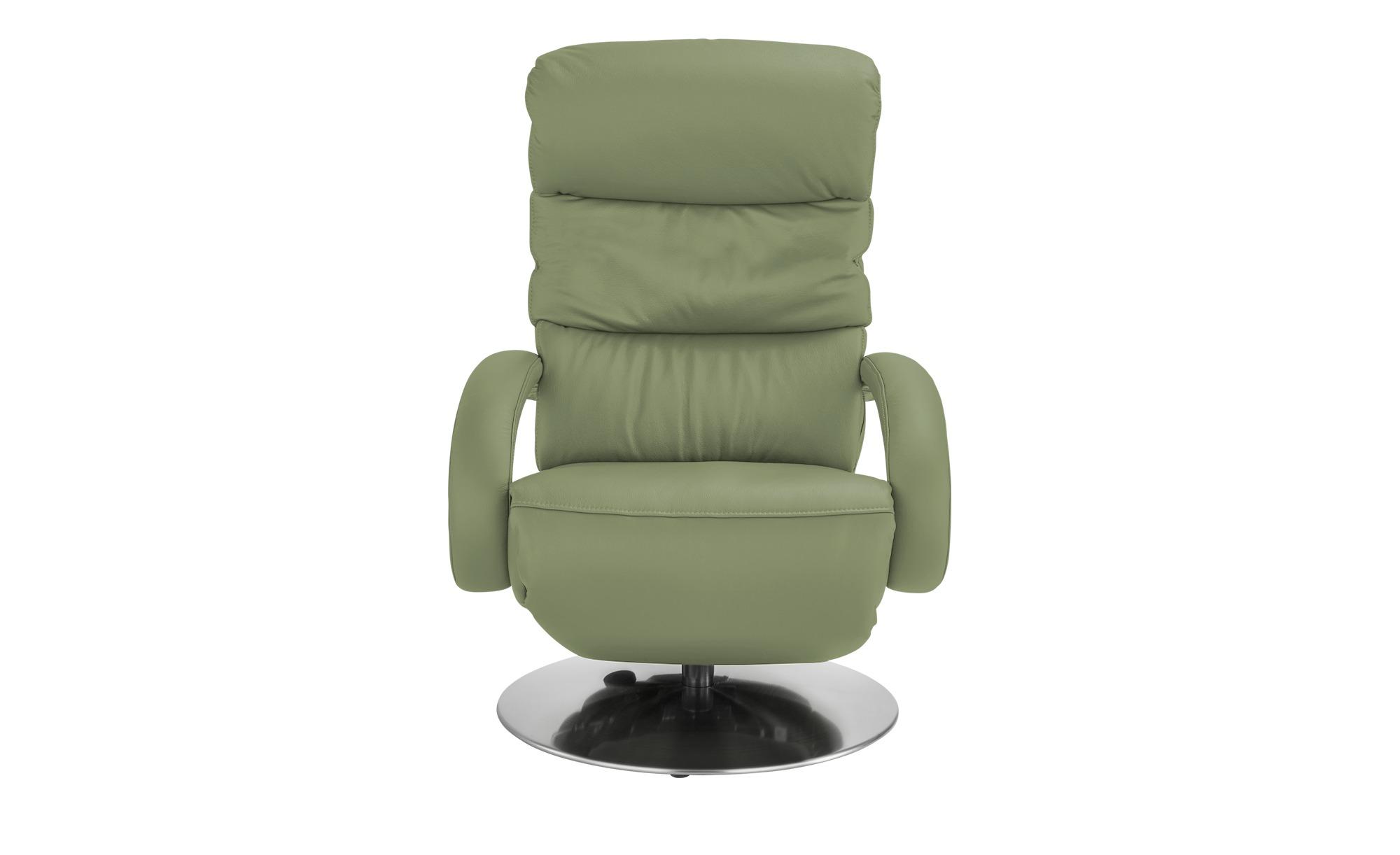 Hukla Leder-Relaxsessel  Florian ¦ grün ¦ Maße (cm): B: 73 H: 102 T: 91 Polstermöbel > Sessel > Fernsehsessel - Höffner