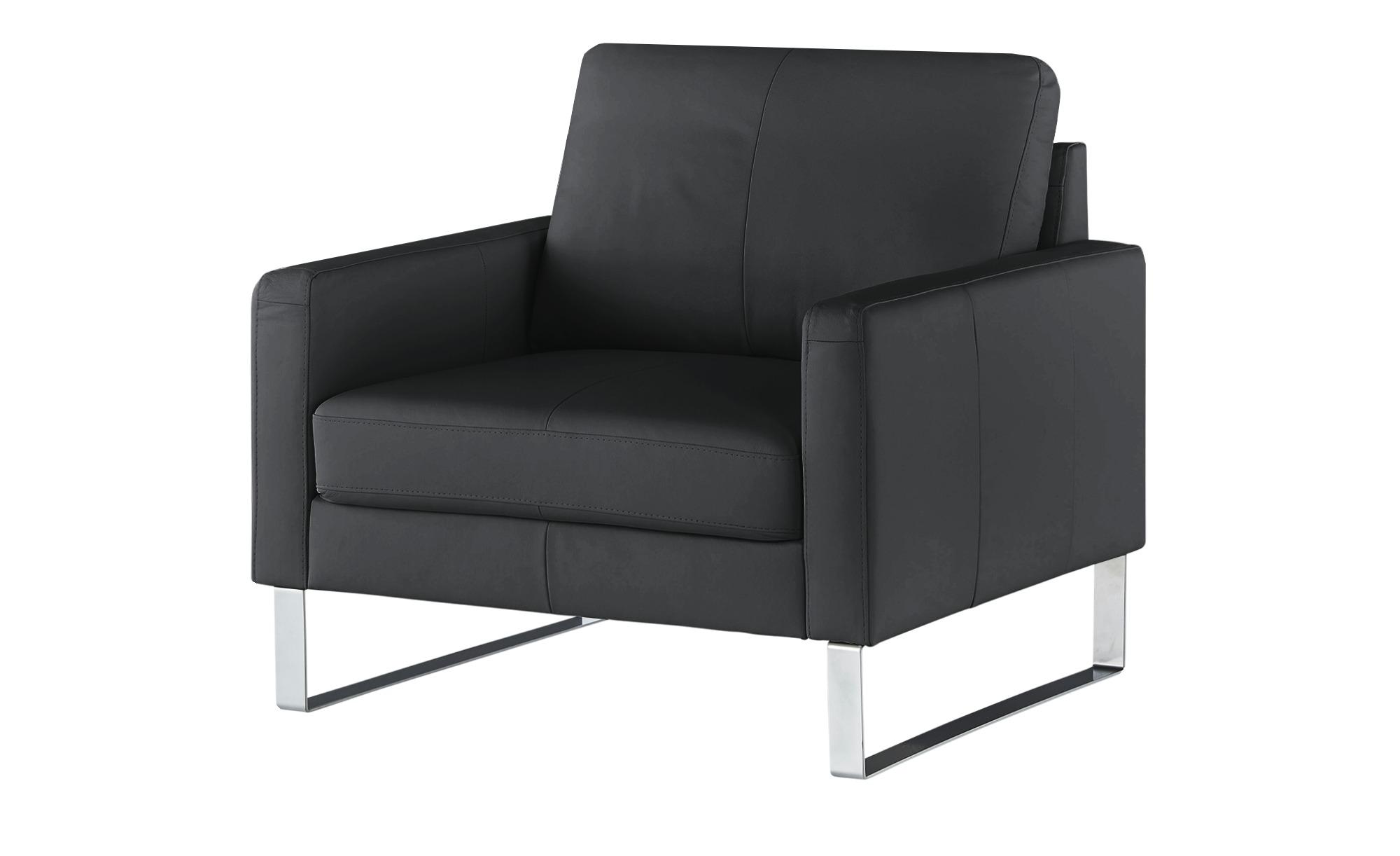 Sessel  Rajaa ¦ schwarz ¦ Maße (cm): B: 100 H: 90 T: 93 Polstermöbel > Sessel > Ledersessel - Höffner