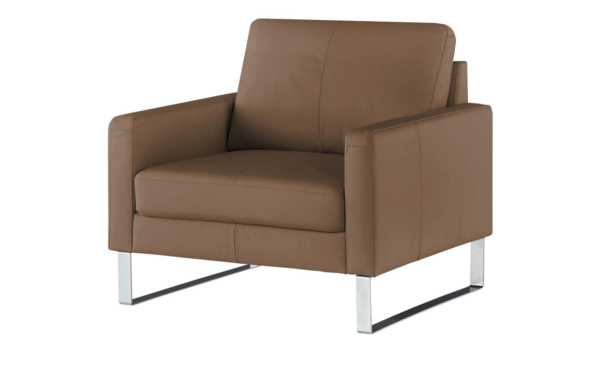 Sessel  Rajaa ¦ braun ¦ Maße (cm): B: 100 H: 90 T: 93 Polstermöbel > Sessel > Ledersessel - Höffner