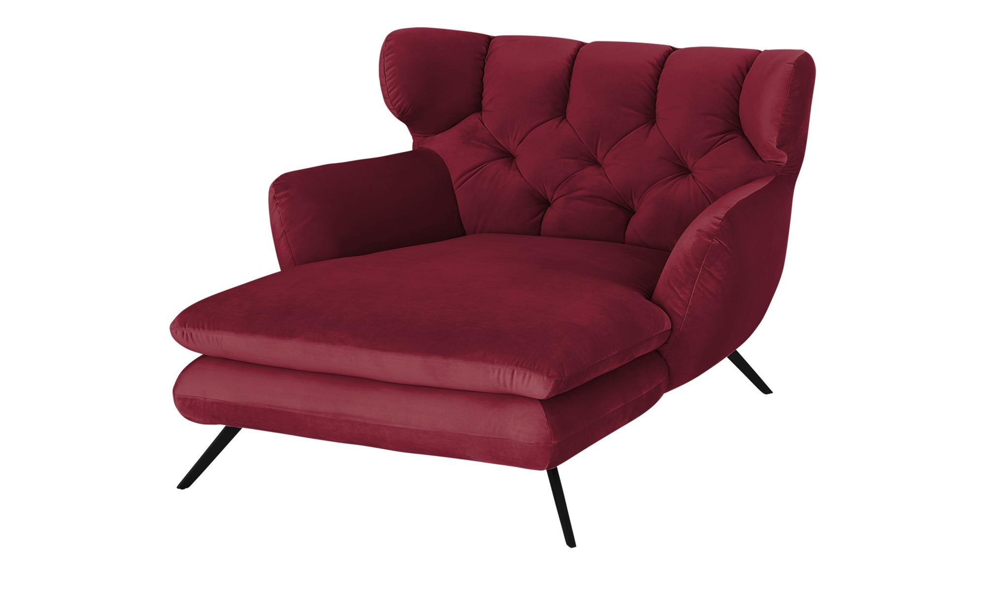 pop Longseat-Sessel  Caldara ¦ rot ¦ Maße (cm): B: 126 H: 94 T: 160 Polstermöbel > Sessel > Ohrensessel - Höffner