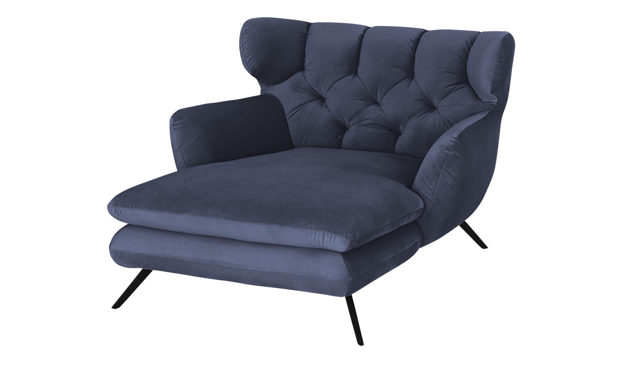 pop Longseat-Sessel  Caldara ¦ blau ¦ Maße (cm): B: 126 H: 94 T: 160 Polstermöbel > Sessel > Ohrensessel - Höffner