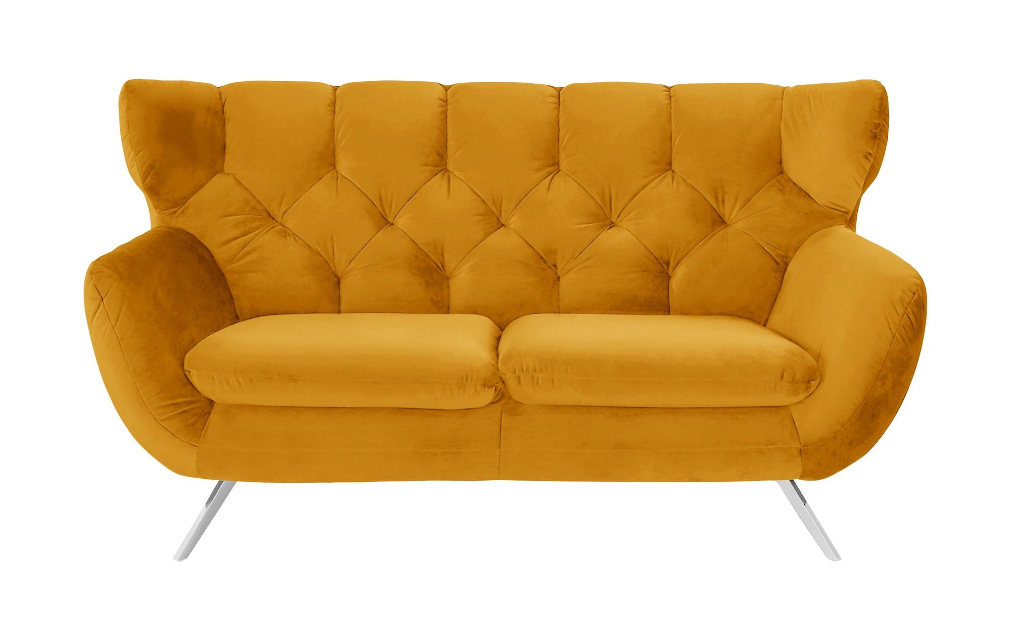 pop Sofa  Caldara ¦ gelb ¦ Maße (cm): B: 175 H: 94 T: 95 Polstermöbel > Sofas > 2-Sitzer - Höffner