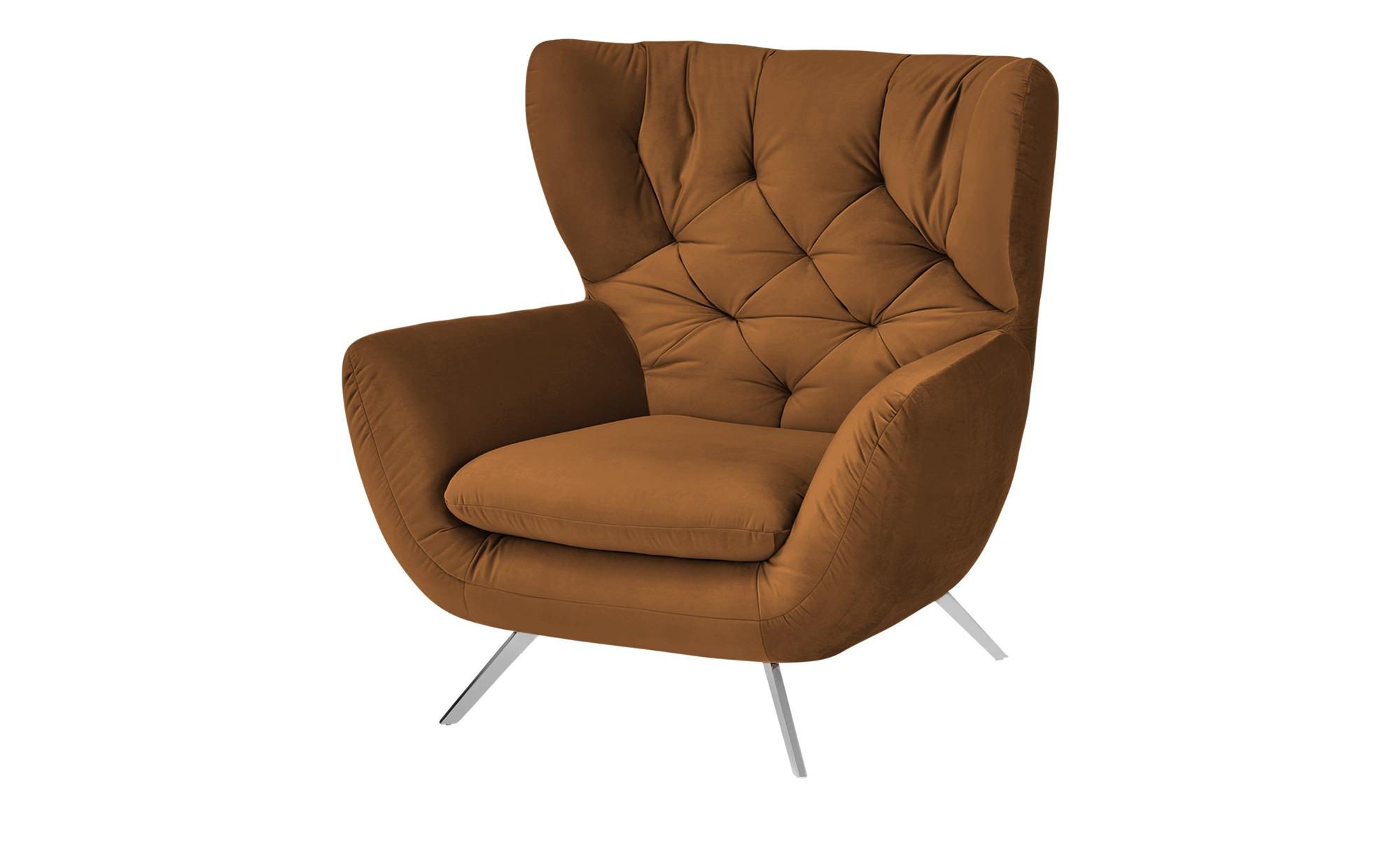 pop Hochlehnsessel  Caldara ¦ braun ¦ Maße (cm): B: 100 H: 106 T: 95 Polstermöbel > Sessel > Ohrensessel - Höffner