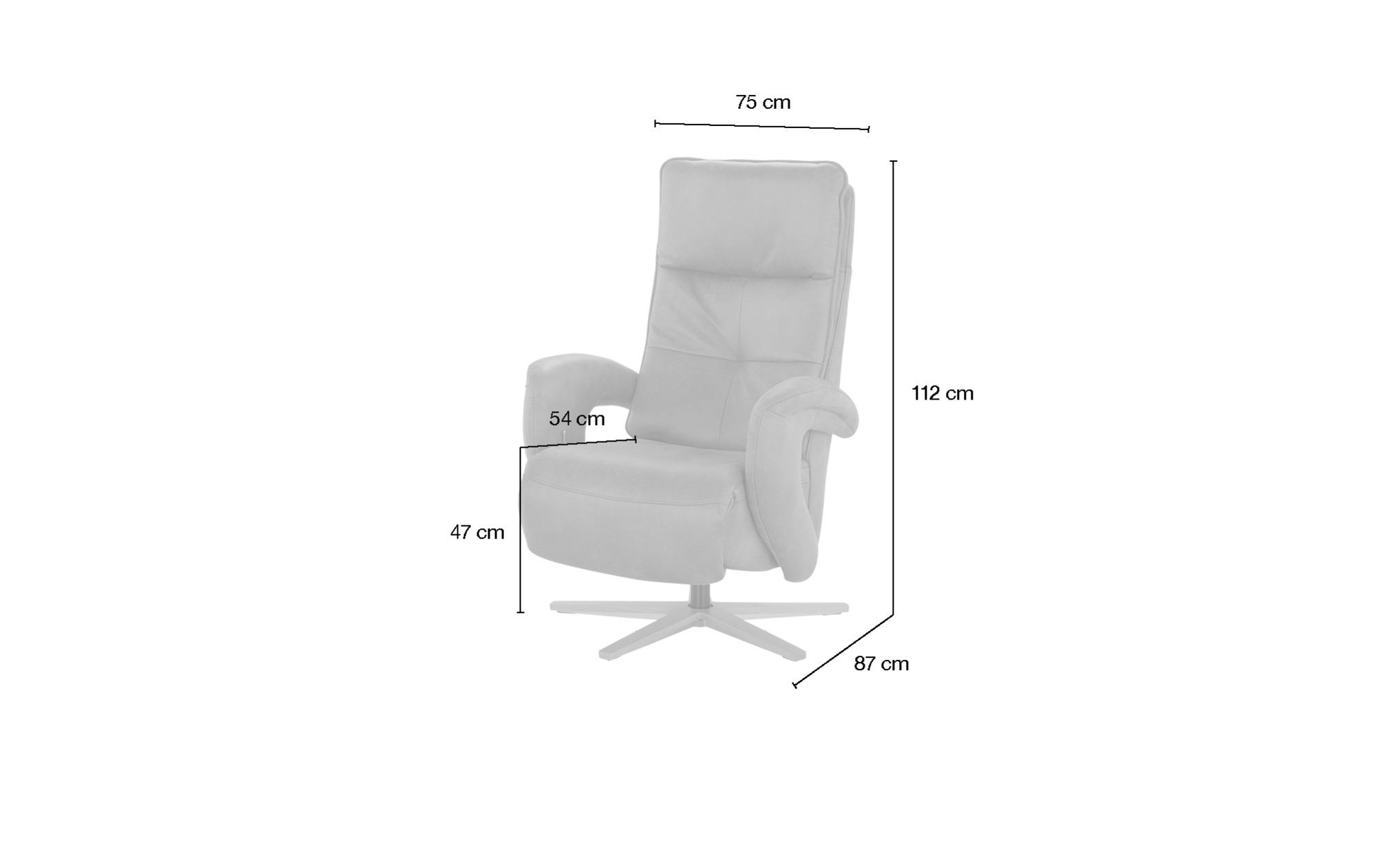 Relaxsessel  Edvin ¦ braun ¦ Maße (cm): B: 75 H: 112 T: 87 Polstermöbel > Sessel > Ledersessel - Höffner