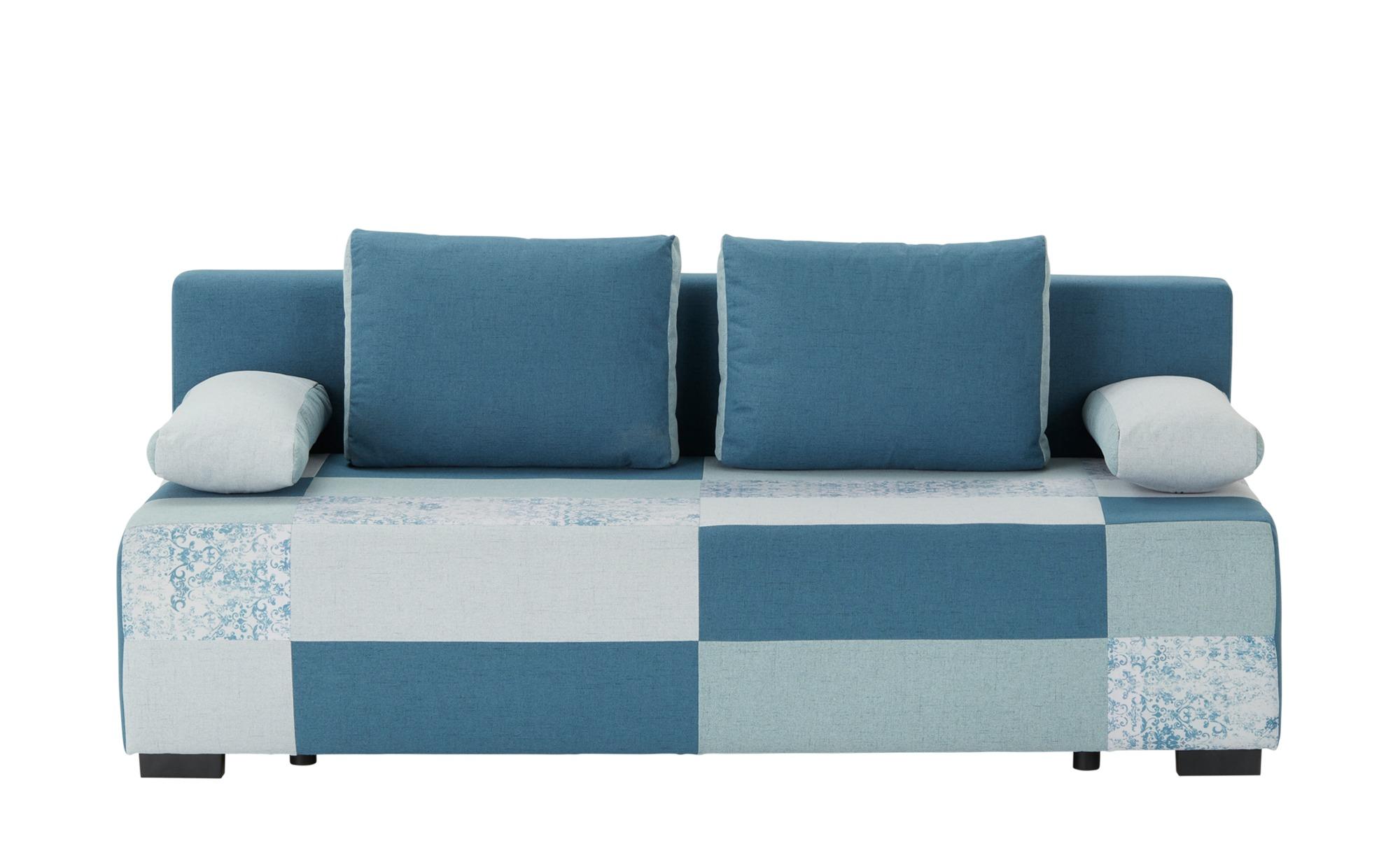 Schlafsofa  Jam ¦ blau ¦ Maße (cm): B: 204 H: 90 T: 92 Polstermöbel > Sofas > Einzelsofas - Höffner