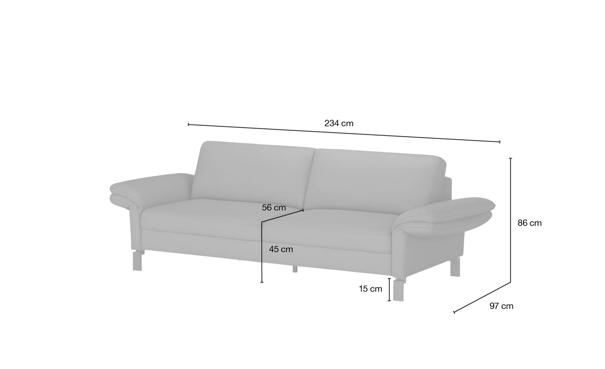 #Max Schelling Einzelsofa  Maximum ¦ grün ¦ Maße (cm): B: 234 H: 86 T: 97 Polstermöbel > Sofas > 3-Sitzer – Höffner#