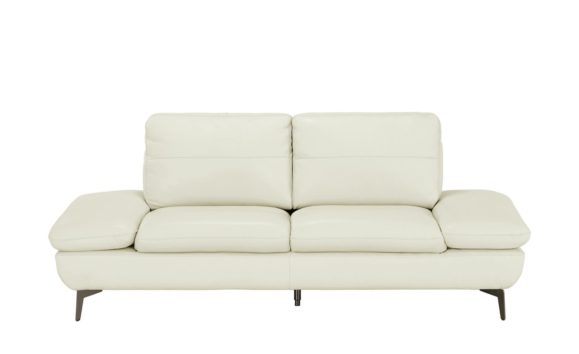Wohnwert Ledersofa  Amarena ¦ beige ¦ Maße (cm): B: 206 H: 84 T: 96 Polstermöbel > Sofas > 2-Sitzer - Höffner