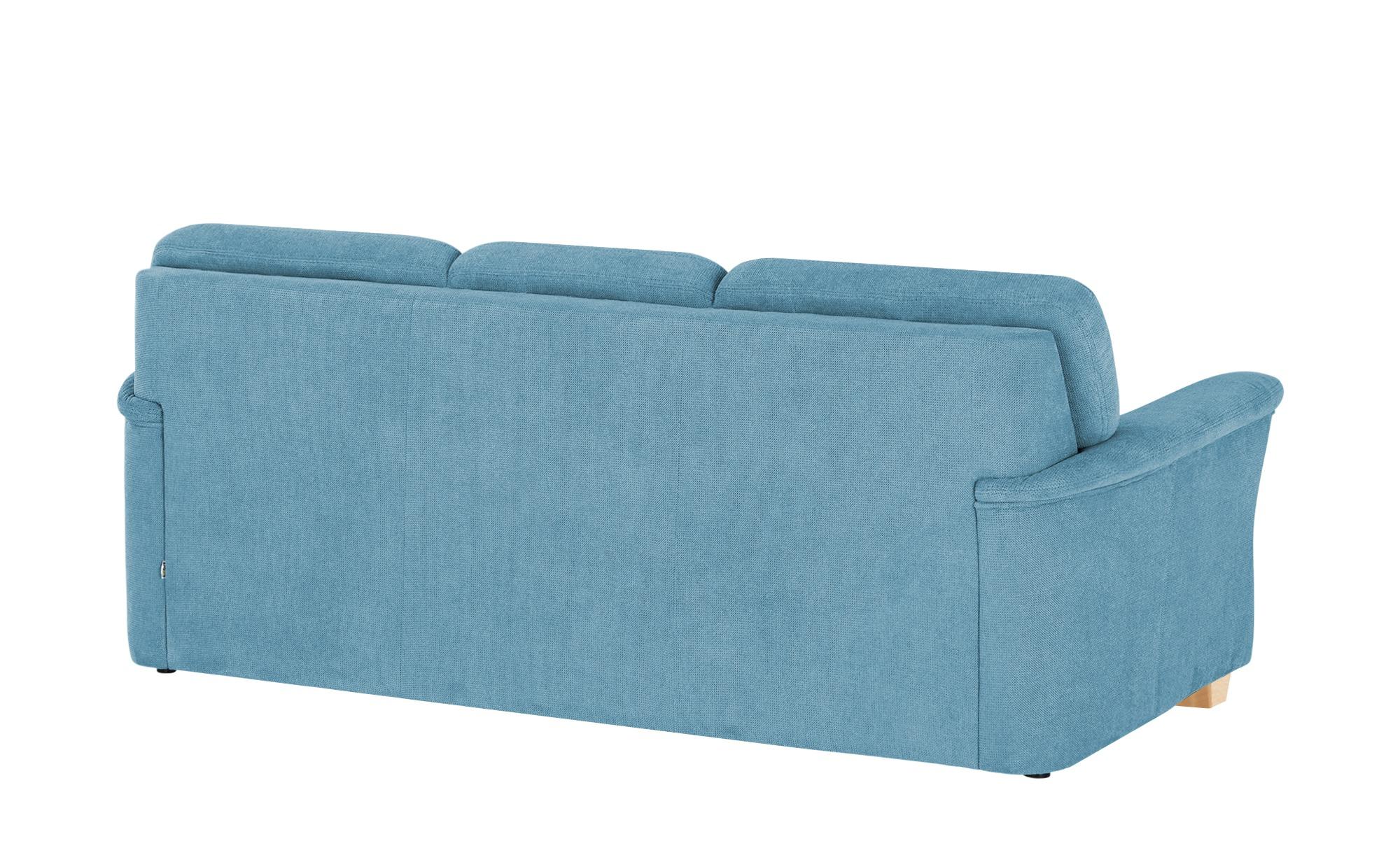 smart Sofa  Valencia ¦ blau ¦ Maße (cm): B: 224 H: 90 T: 93 Polstermöbel > Sofas > 3-Sitzer - Höffner