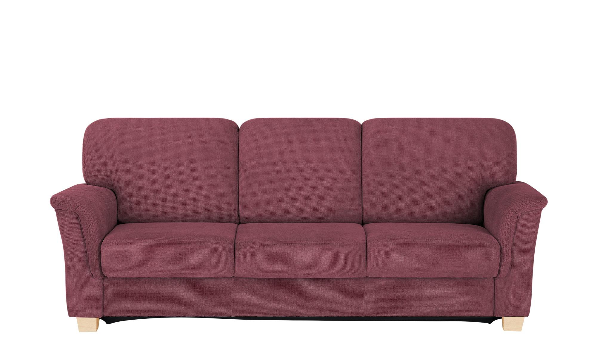 smart Sofa  Valencia ¦ rot ¦ Maße (cm): B: 224 H: 90 T: 93 Polstermöbel > Sofas > 3-Sitzer - Höffner