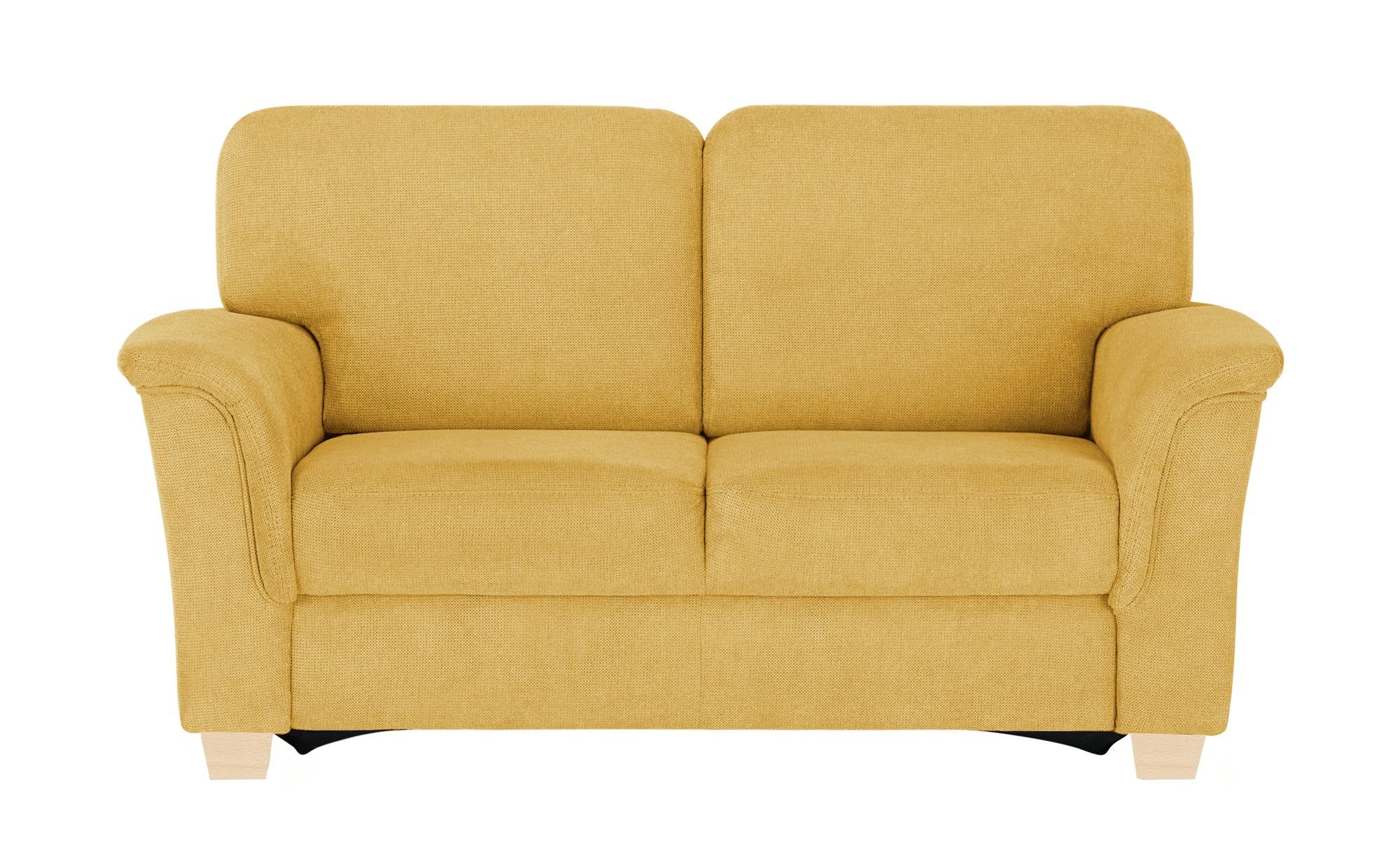 smart Sofa  Valencia ¦ gelb ¦ Maße (cm): B: 164 H: 90 T: 93 Polstermöbel > Sofas > 2-Sitzer - Höffner