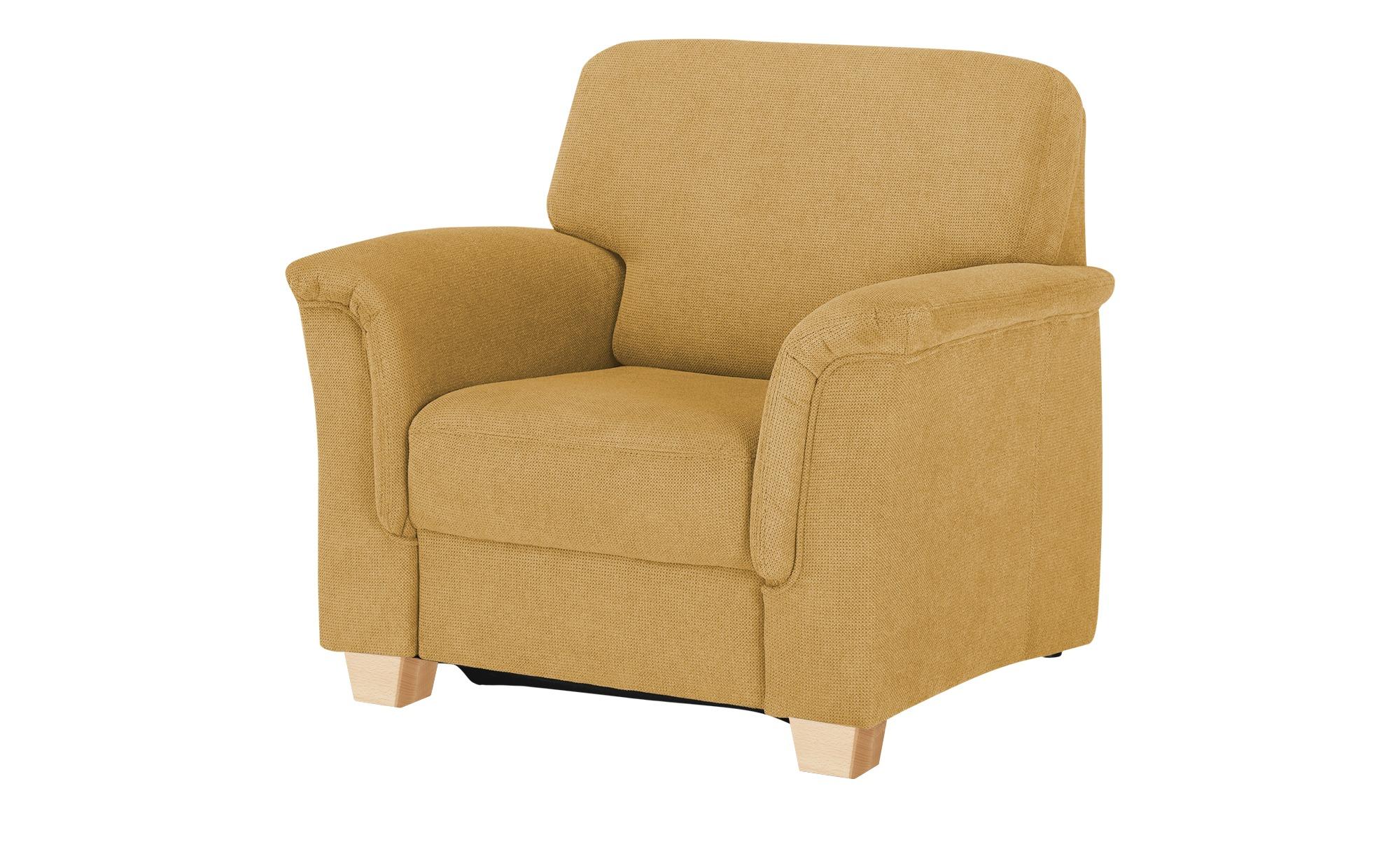 smart Sessel  Valencia ¦ gelb ¦ Maße (cm): B: 100 H: 90 T: 93 Polstermöbel > Sessel > Polstersessel - Höffner