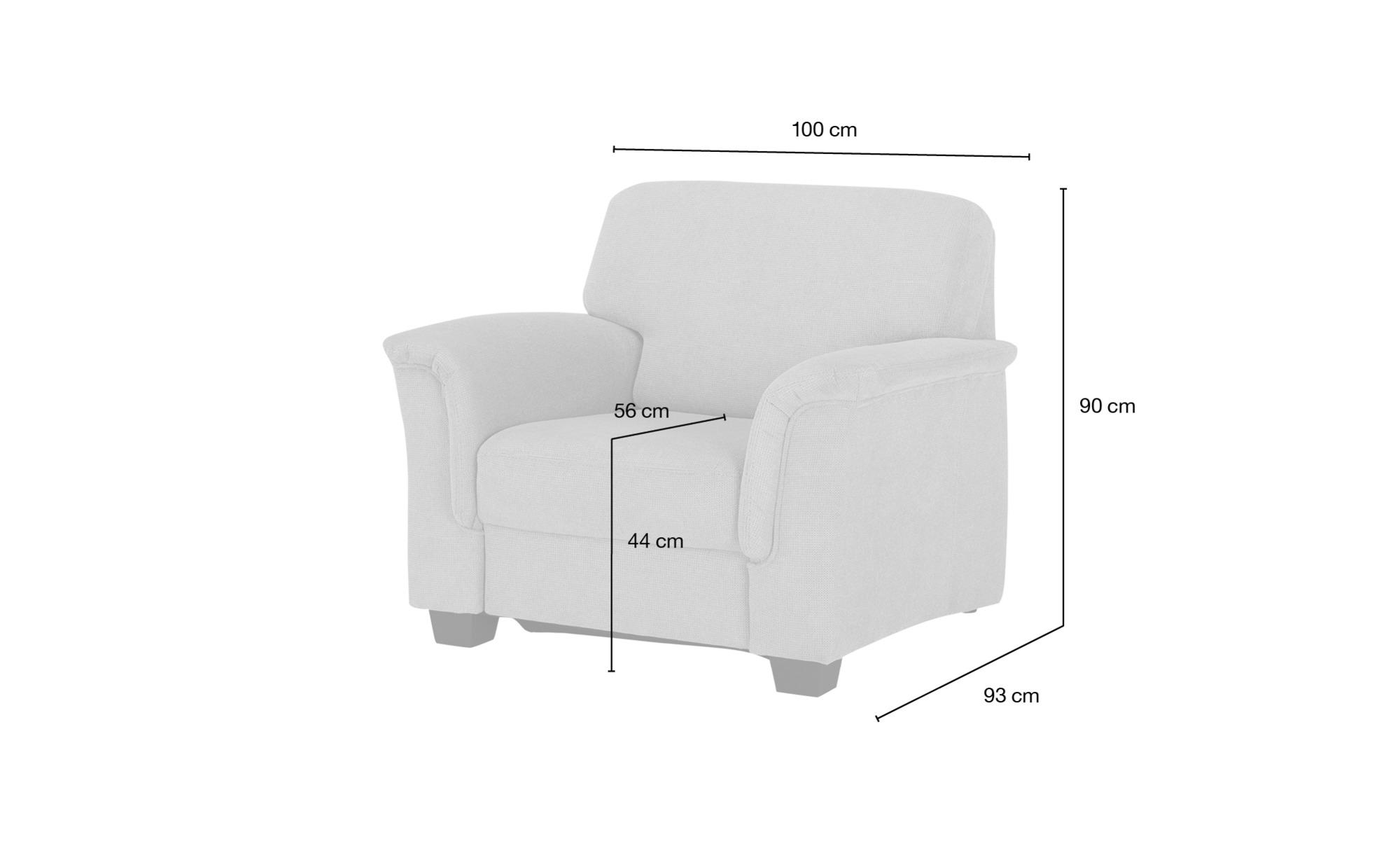 smart Sessel  Valencia ¦ rot ¦ Maße (cm): B: 100 H: 90 T: 93 Polstermöbel > Sessel > Polstersessel - Höffner