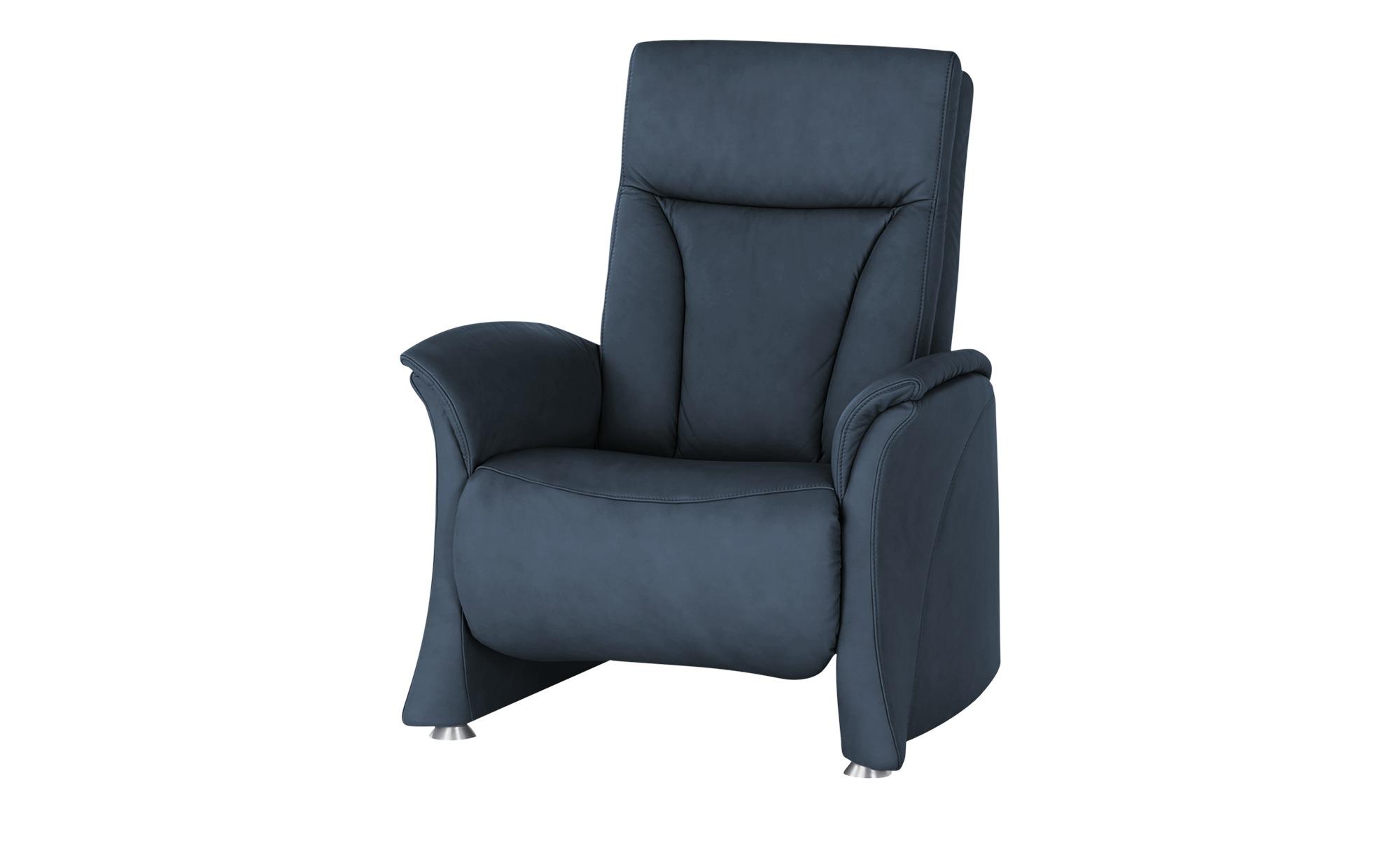 himolla Sessel  4010 ¦ blau ¦ Maße (cm): B: 75 H: 108 T: 88 Polstermöbel > Sessel > Ledersessel - Höffner