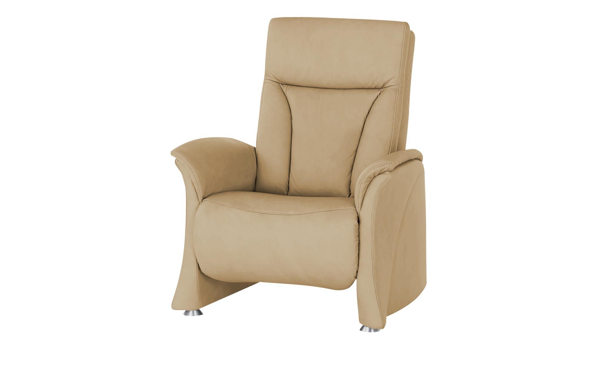 himolla Sessel  4010 ¦ beige ¦ Maße (cm): B: 75 H: 108 T: 88 Polstermöbel > Sessel > Ledersessel - Höffner