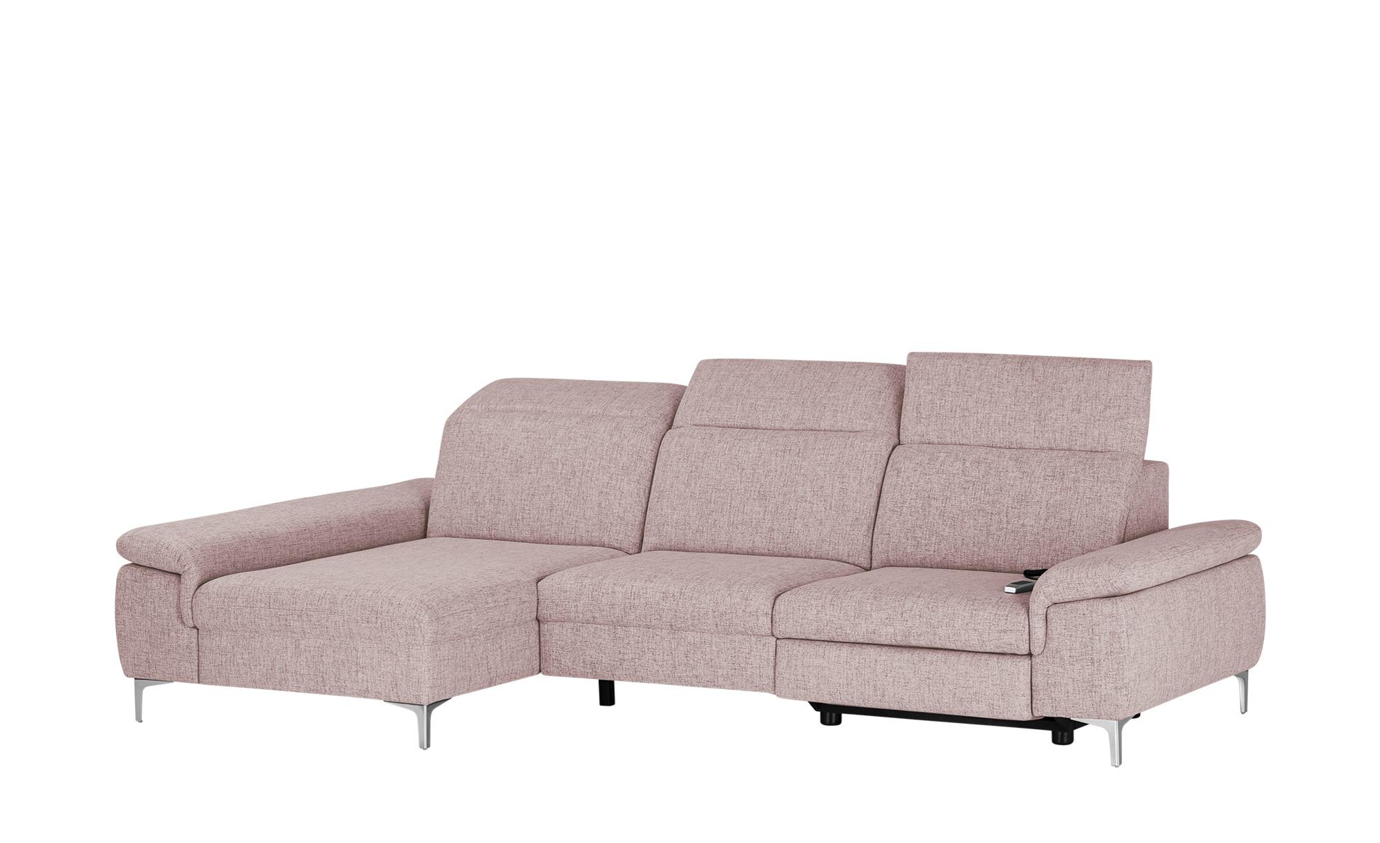 Ecksofa mit Relaxfunktion  Kyoto ¦ rosa/pink ¦ Maße (cm): H: 87 Polstermöbel > Sofas > Ecksofas - Höffner