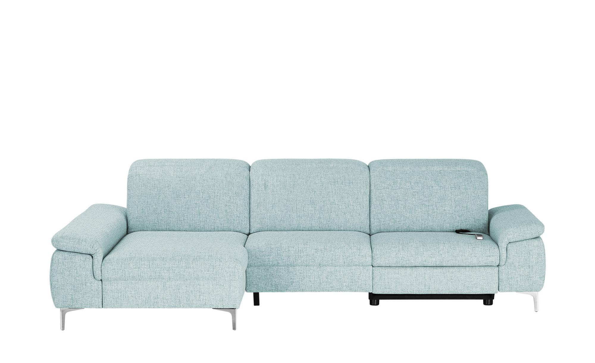 Ecksofa mit Relaxfunktion  Kyoto ¦ blau ¦ Maße (cm): H: 87 Polstermöbel > Sofas > Ecksofas - Höffner