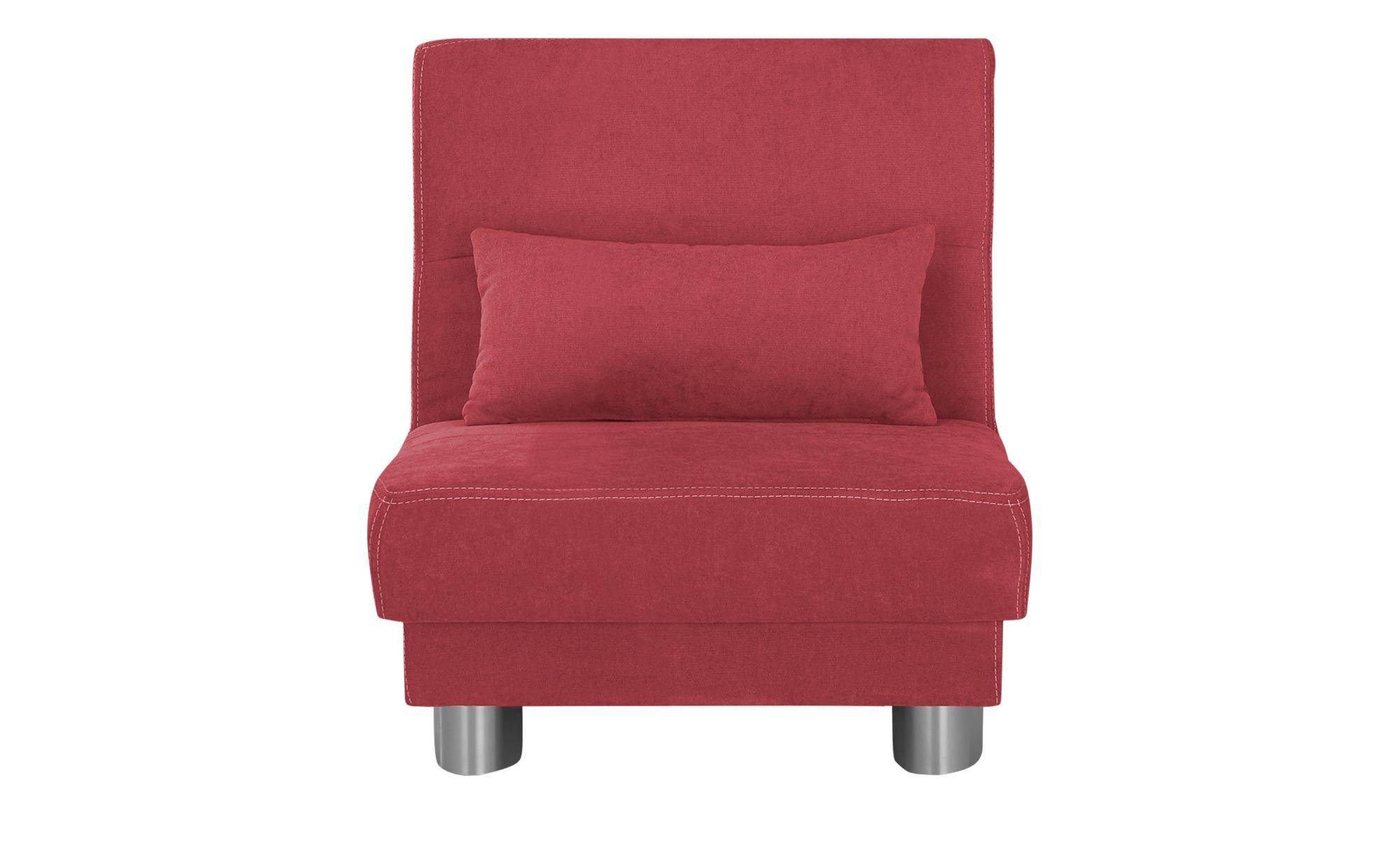 Schlafsofa  Gina ¦ rot ¦ Maße (cm): B: 80 H: 86 T: 95 Polstermöbel > Sofas > Einzelsofas - Höffner