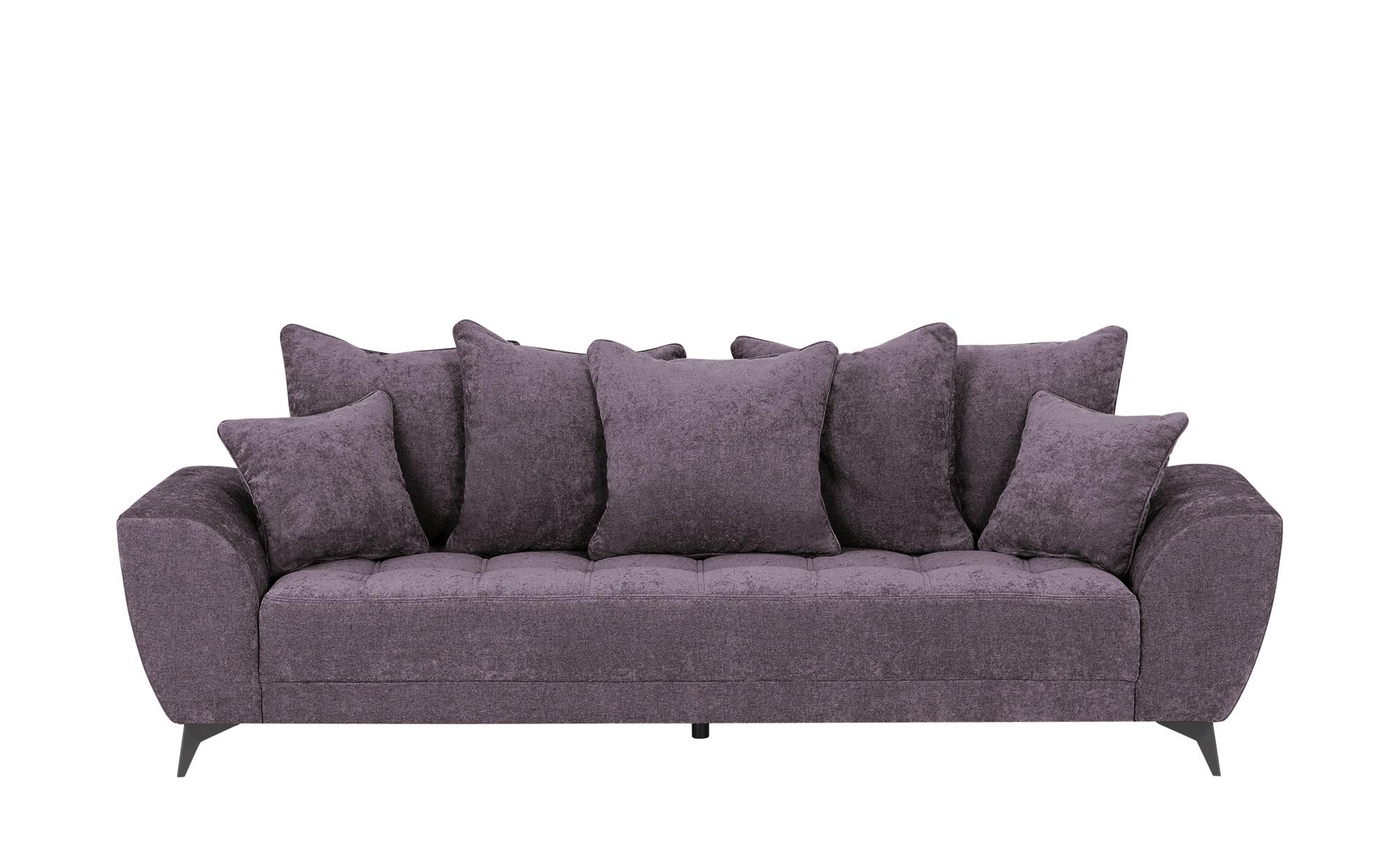smart Sofa  Bella ¦ lila/violett ¦ Maße (cm): B: 265 H: 95 T: 95 Polstermöbel > Sofas > 3-Sitzer - Höffner