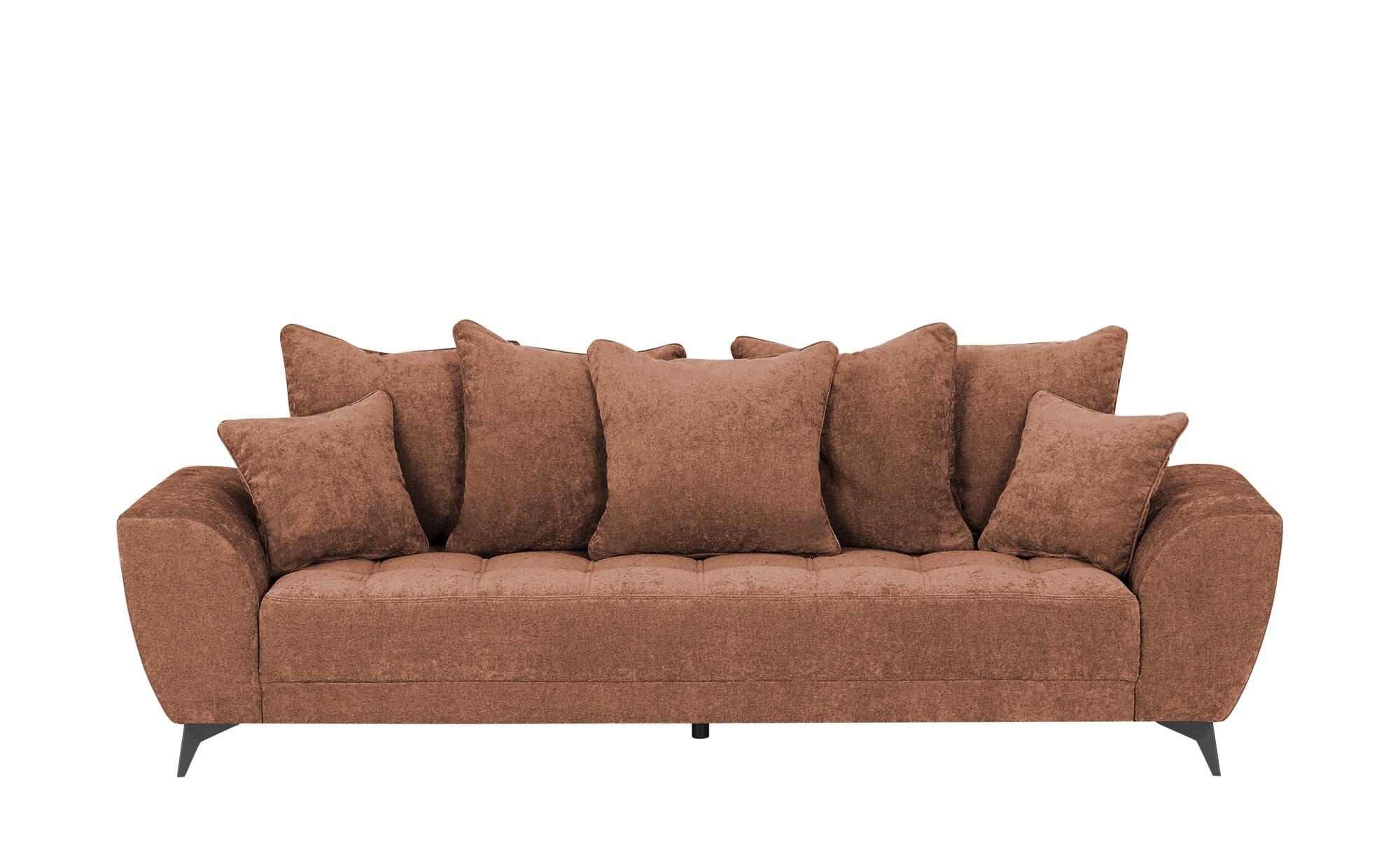 smart Sofa  Bella ¦ orange ¦ Maße (cm): B: 265 H: 95 T: 95 Polstermöbel > Sofas > 3-Sitzer - Höffner