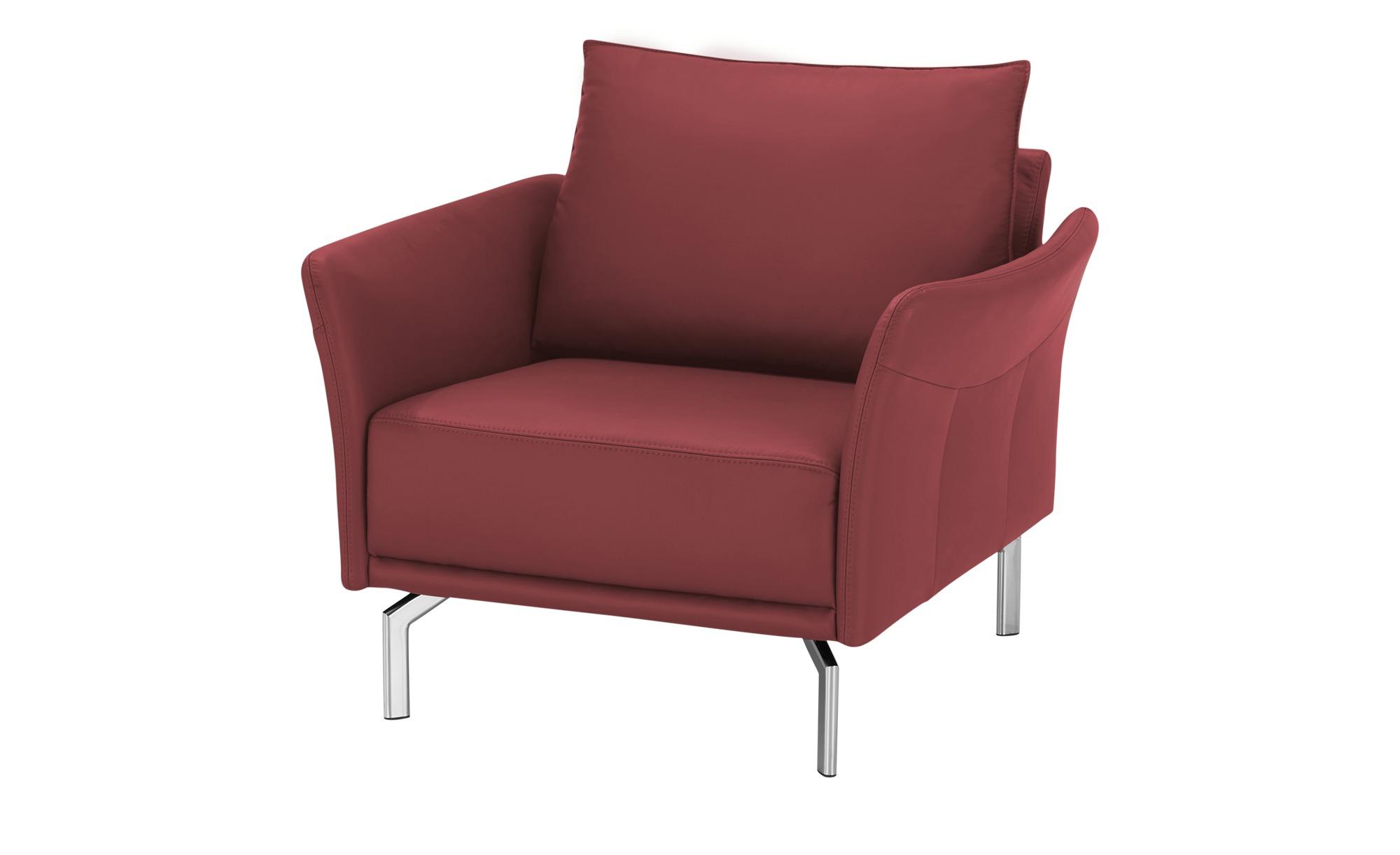 SOHO Sessel  Yamila ¦ rot ¦ Maße (cm): B: 102 H: 90 T: 81 Polstermöbel > Sessel > Ledersessel - Höffner