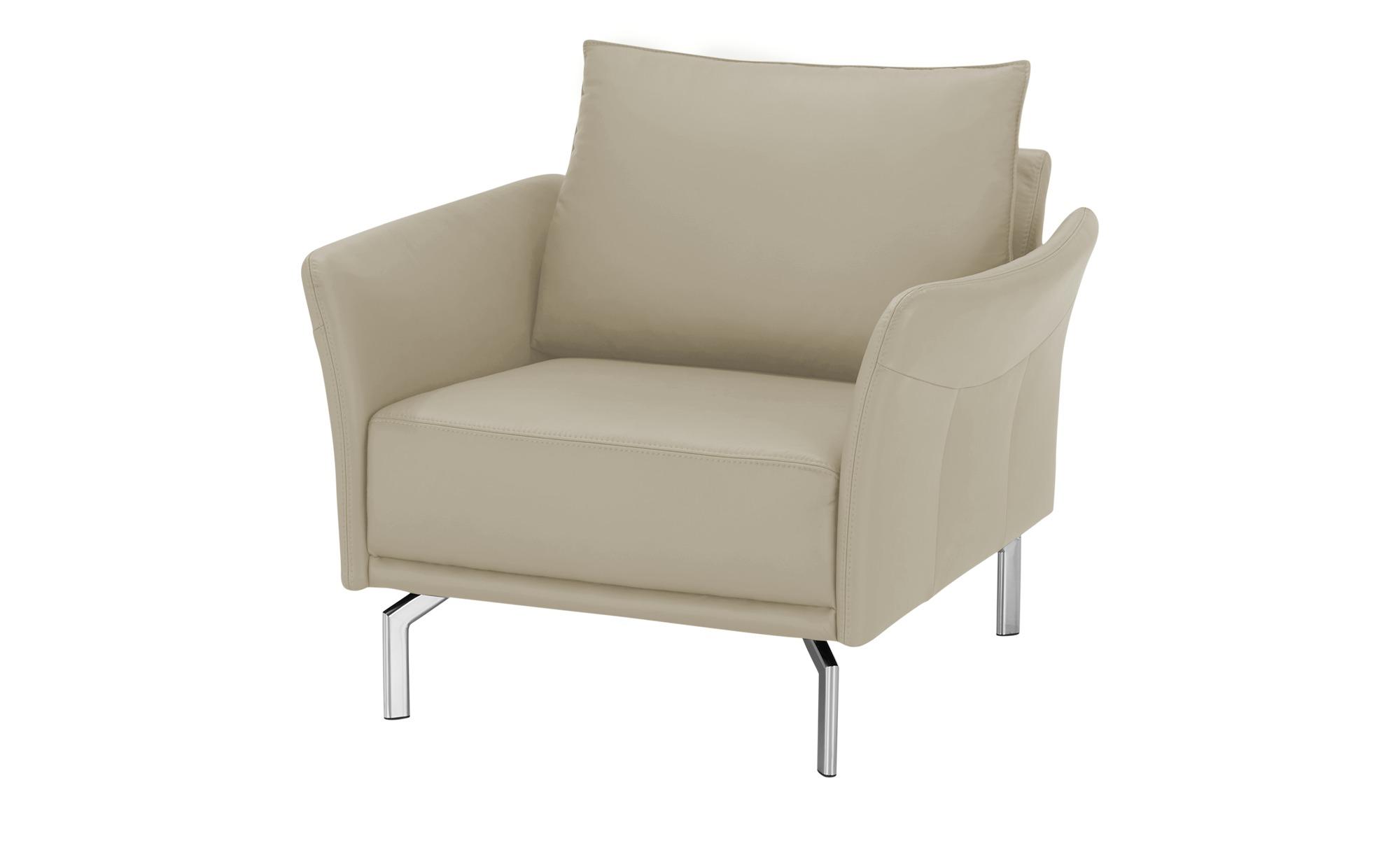 SOHO Sessel  Yamila ¦ beige ¦ Maße (cm): B: 102 H: 90 T: 81 Polstermöbel > Sessel > Ledersessel - Höffner