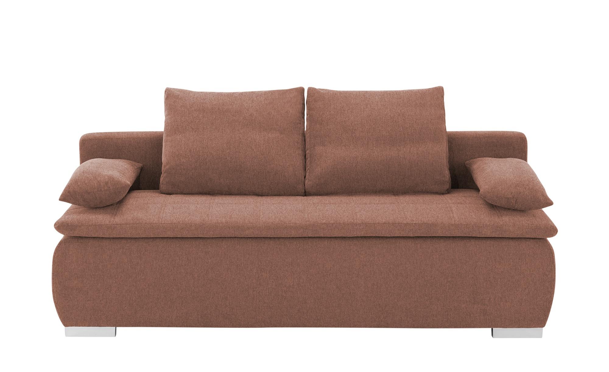 smart Schlafsofa  Leonie ¦ orange ¦ Maße (cm): B: 198 H: 92 T: 90 Polstermöbel > Sofas > Einzelsofas - Höffner