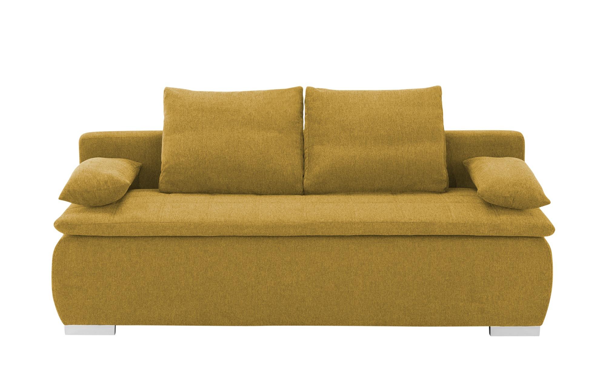 smart Schlafsofa  Leonie ¦ gelb ¦ Maße (cm): B: 198 H: 92 T: 90 Polstermöbel > Sofas > Einzelsofas - Höffner