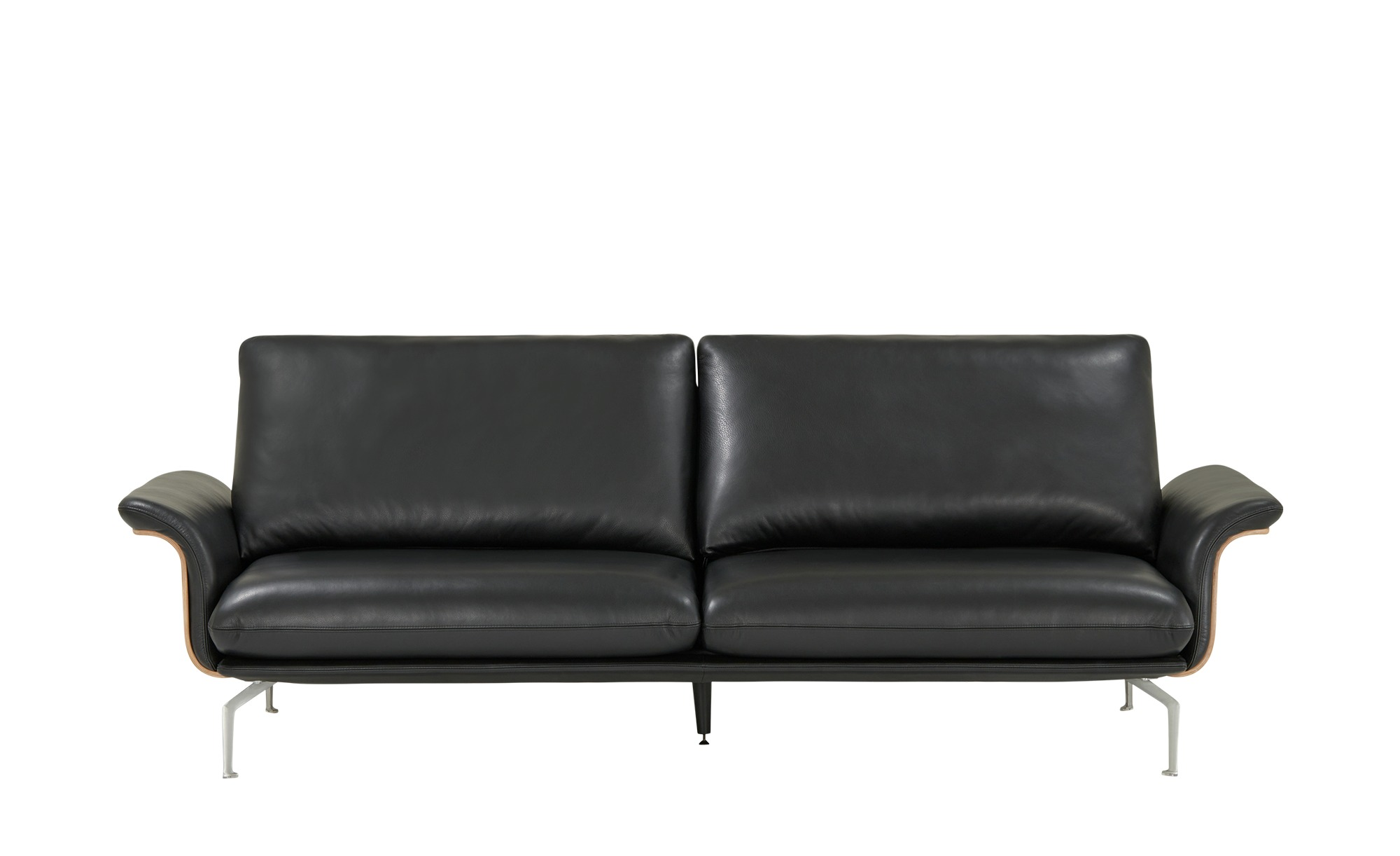 Nils Olsen Ledersofa  Alva ¦ schwarz ¦ Maße (cm): B: 244 H: 87 T: 101 Polstermöbel > Sofas > 3-Sitzer - Höffner