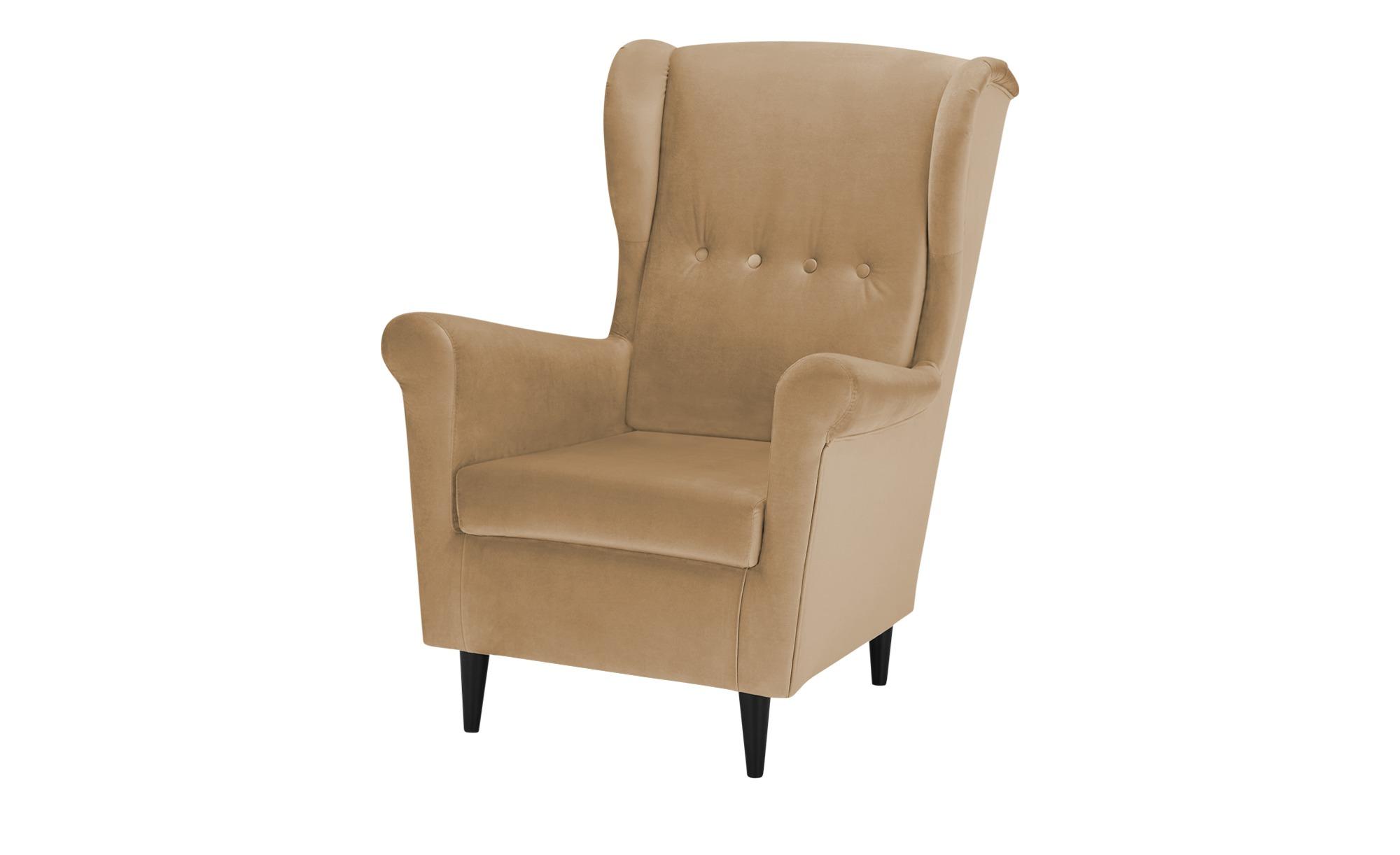smart Sessel  Hubertine ¦ beige ¦ Maße (cm): B: 82 H: 102 T: 89 Polstermöbel > Sessel > Ohrensessel - Höffner