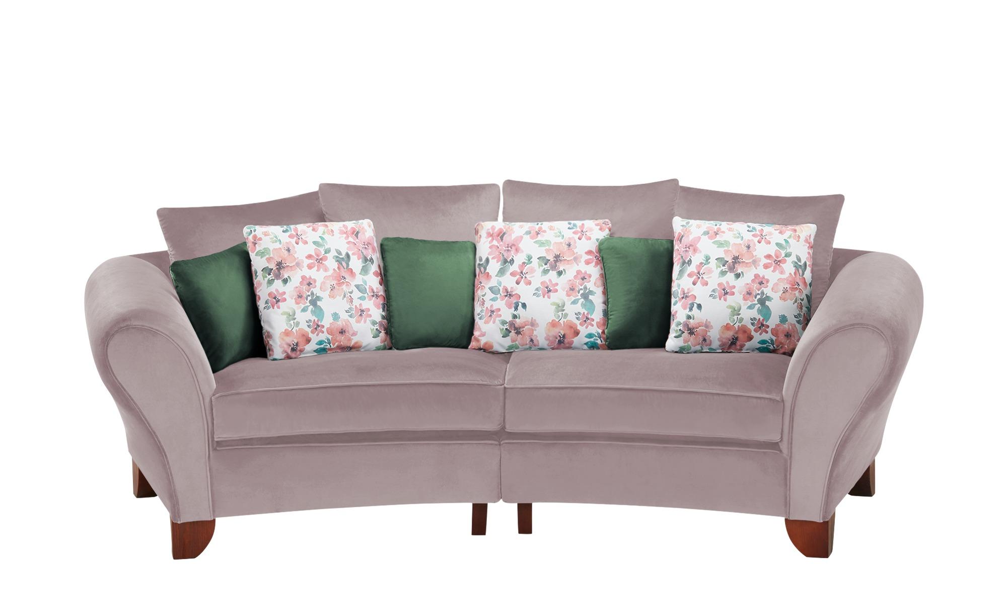 smart Big Sofa  Nadja ¦ rosa/pink ¦ Maße (cm): B: 277 H: 95 T: 108 Polstermöbel > Sofas > 3-Sitzer - Höffner