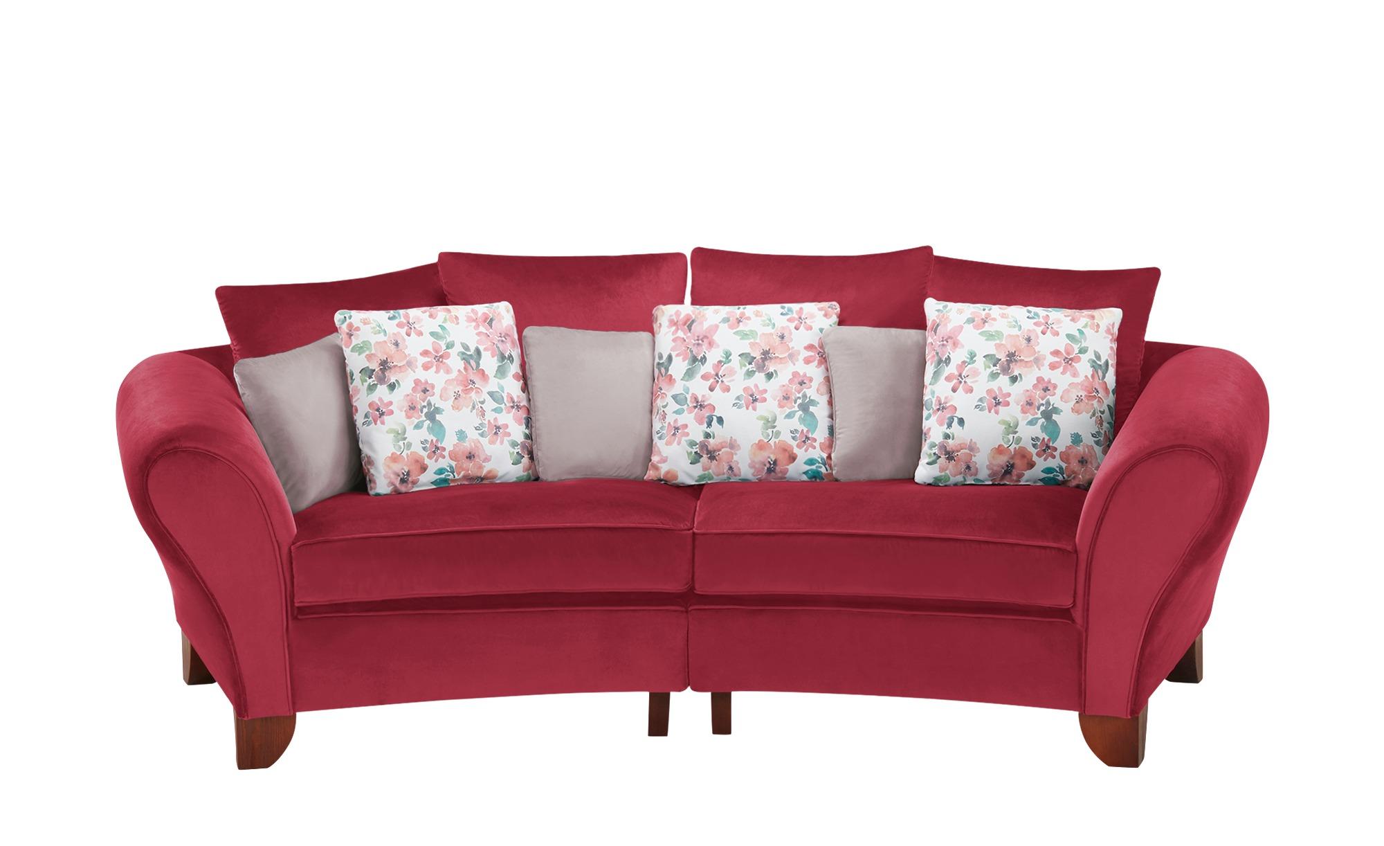 smart Big Sofa  Nadja ¦ rot ¦ Maße (cm): B: 277 H: 95 T: 108 Polstermöbel > Sofas > 3-Sitzer - Höffner