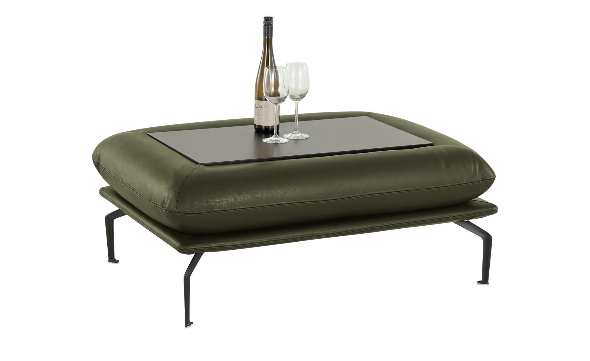 Nils Olsen Hocker mit Tischplatte  Alva ¦ grün Polstermöbel > Hocker - Höff günstig online kaufen