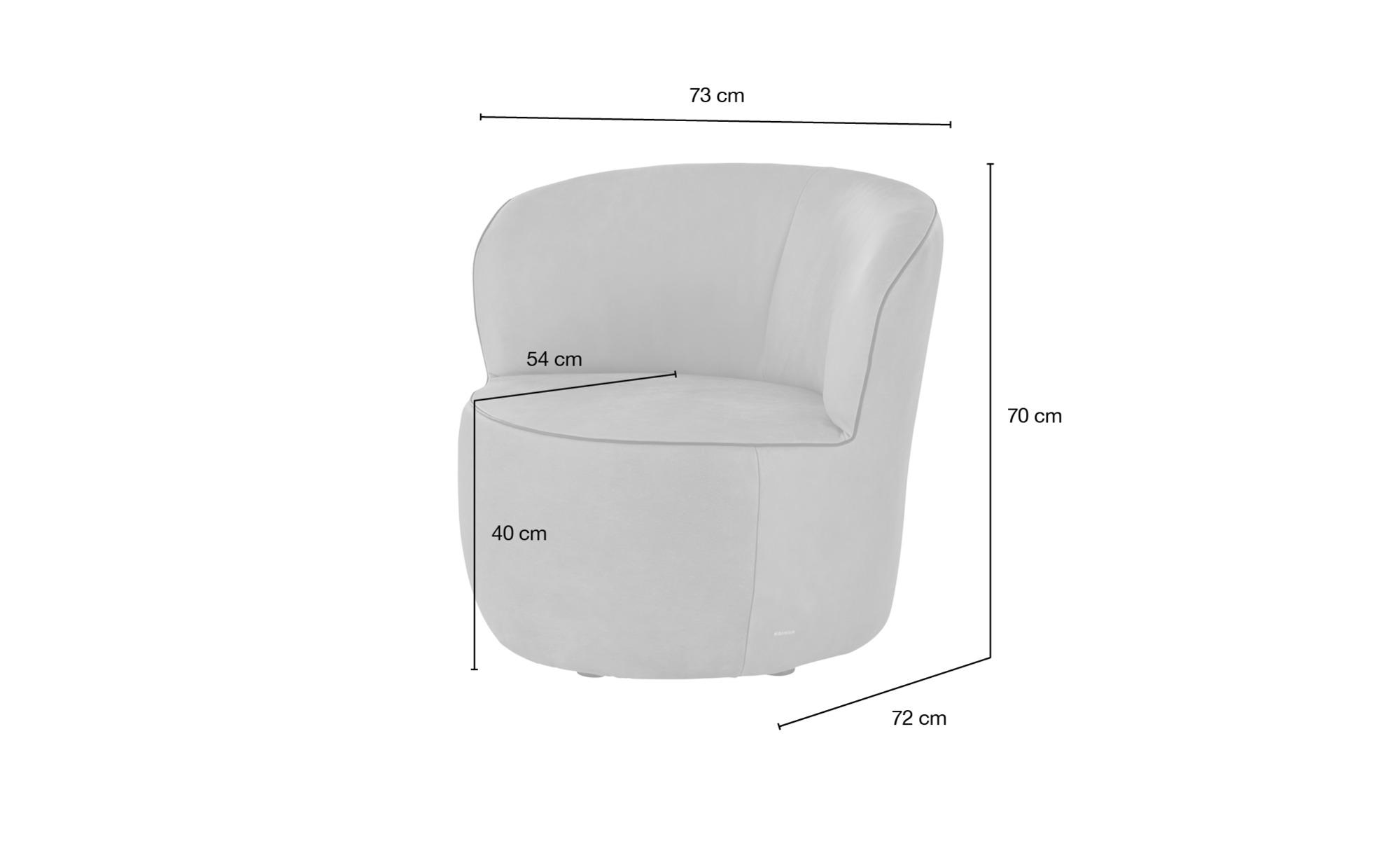 KOINOR Sessel  Igor ¦ rot ¦ Maße (cm): B: 73 H: 70 T: 72 Polstermöbel > Sessel > Ledersessel - Höffner