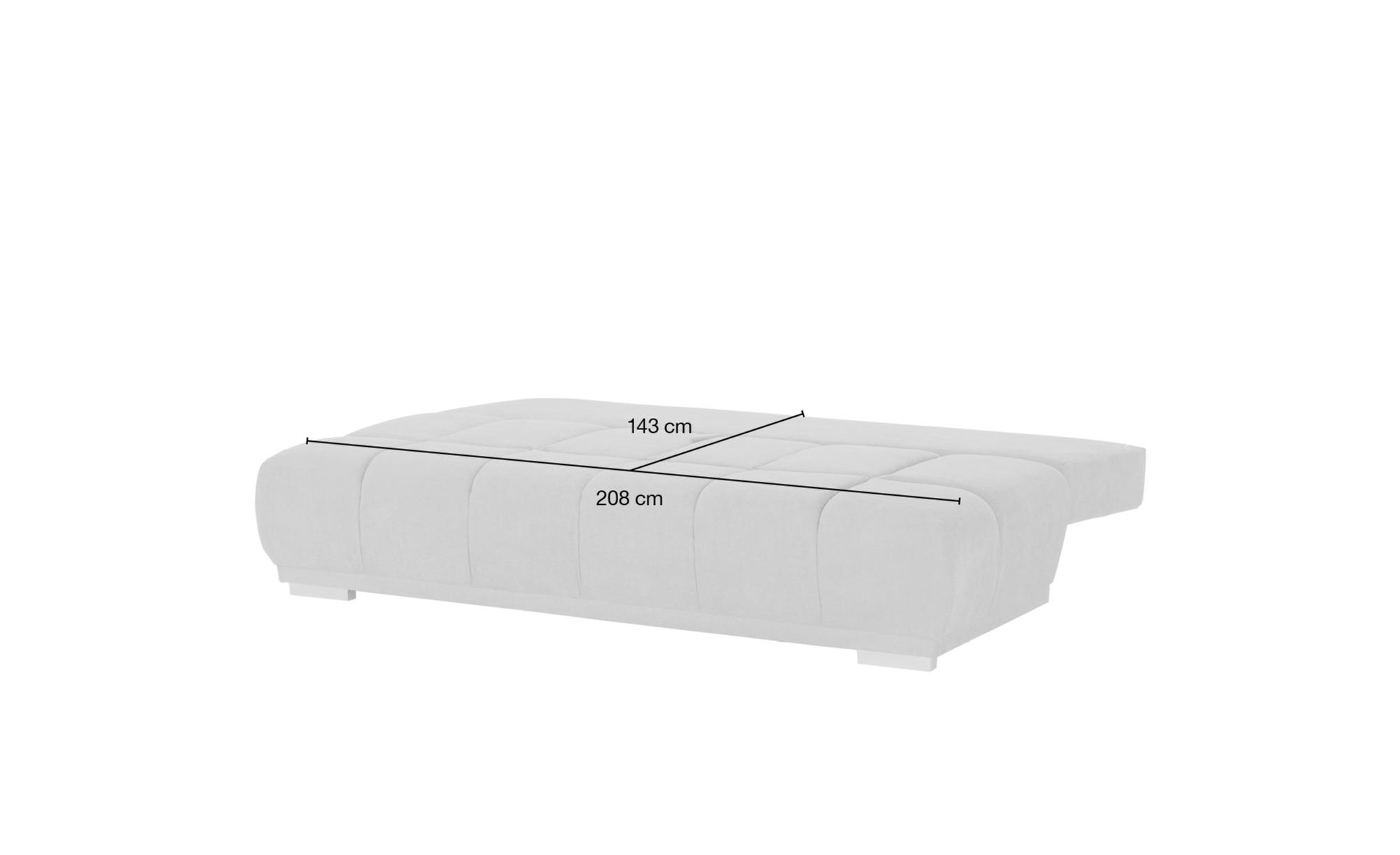 switch Schlafsofa  Gala ¦ grün ¦ Maße (cm): B: 208 H: 92 T: 102 Polstermöbel > Sofas > 2-Sitzer - Höffner