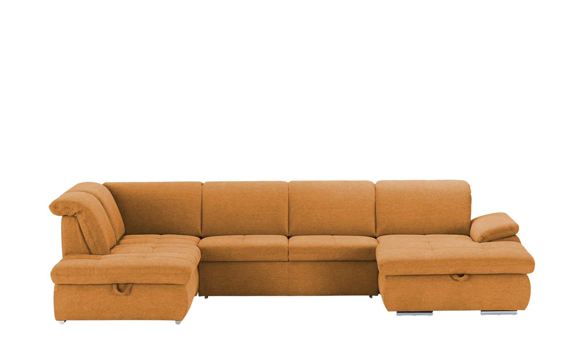 Wohnlandschaft  Bridget ¦ orange ¦ Maße (cm): H: 83 Polstermöbel > Sofas > Schlafsofas - Höffner