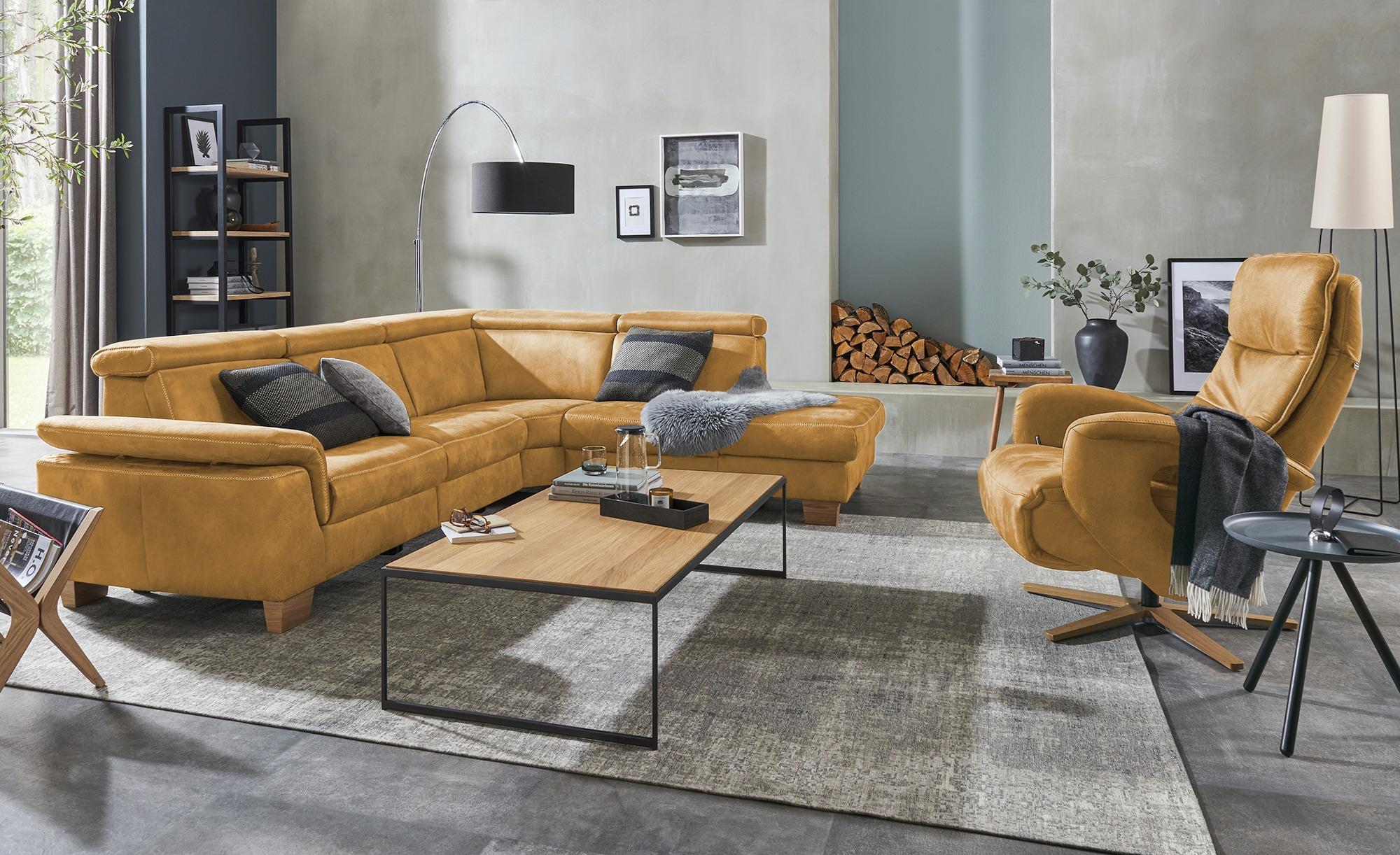 Relaxsessel  Edvin ¦ gelb ¦ Maße (cm): B: 75 H: 112 T: 87 Polstermöbel > Sessel > Ledersessel - Höffner