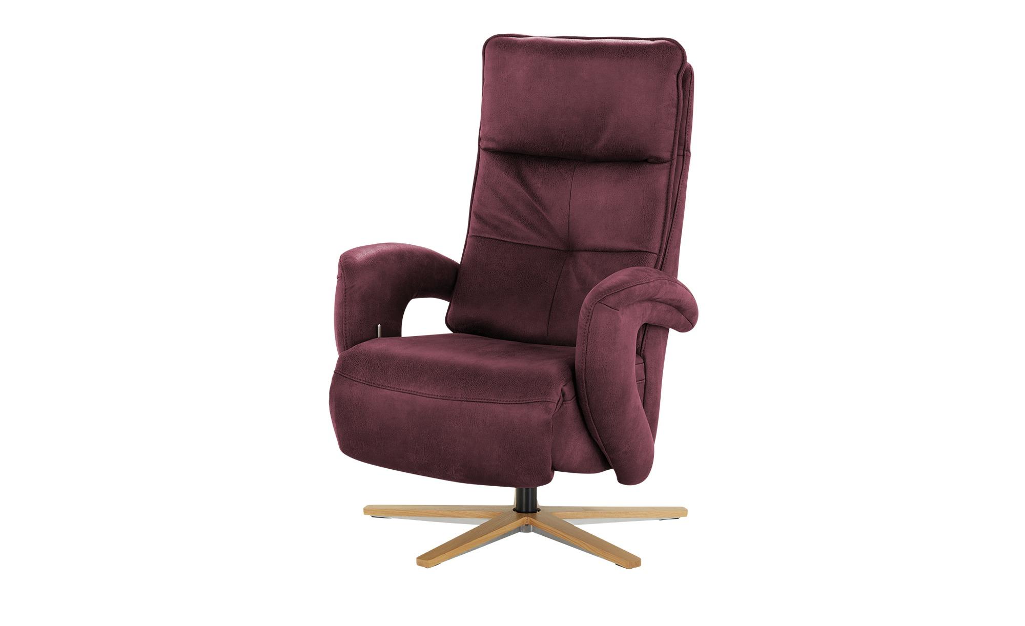 Relaxsessel  Edvin ¦ rot ¦ Maße (cm): B: 75 H: 112 T: 87 Polstermöbel > Sessel > Ledersessel - Höffner