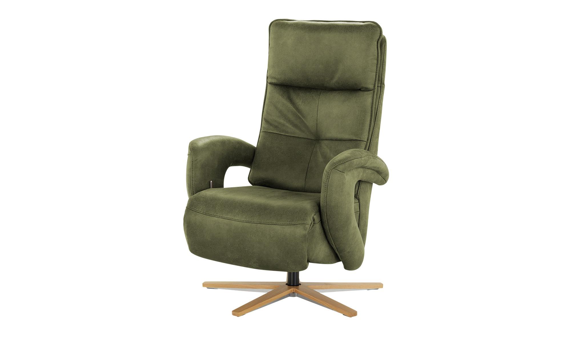 Relaxsessel  Edvin ¦ grün ¦ Maße (cm): B: 75 H: 112 T: 87 Polstermöbel > Sessel > Ledersessel - Höffner