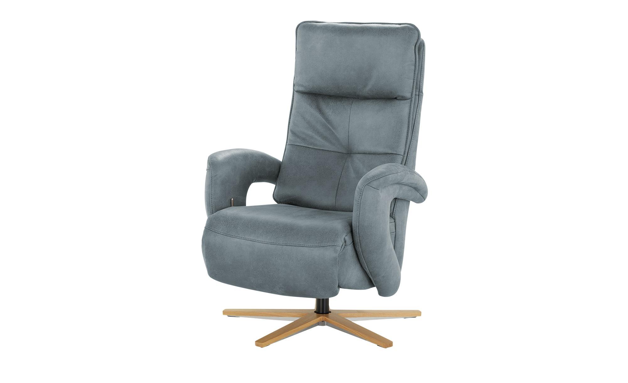 Relaxsessel  Edvin ¦ blau ¦ Maße (cm): B: 75 H: 112 T: 87 Polstermöbel > Sessel > Ledersessel - Höffner
